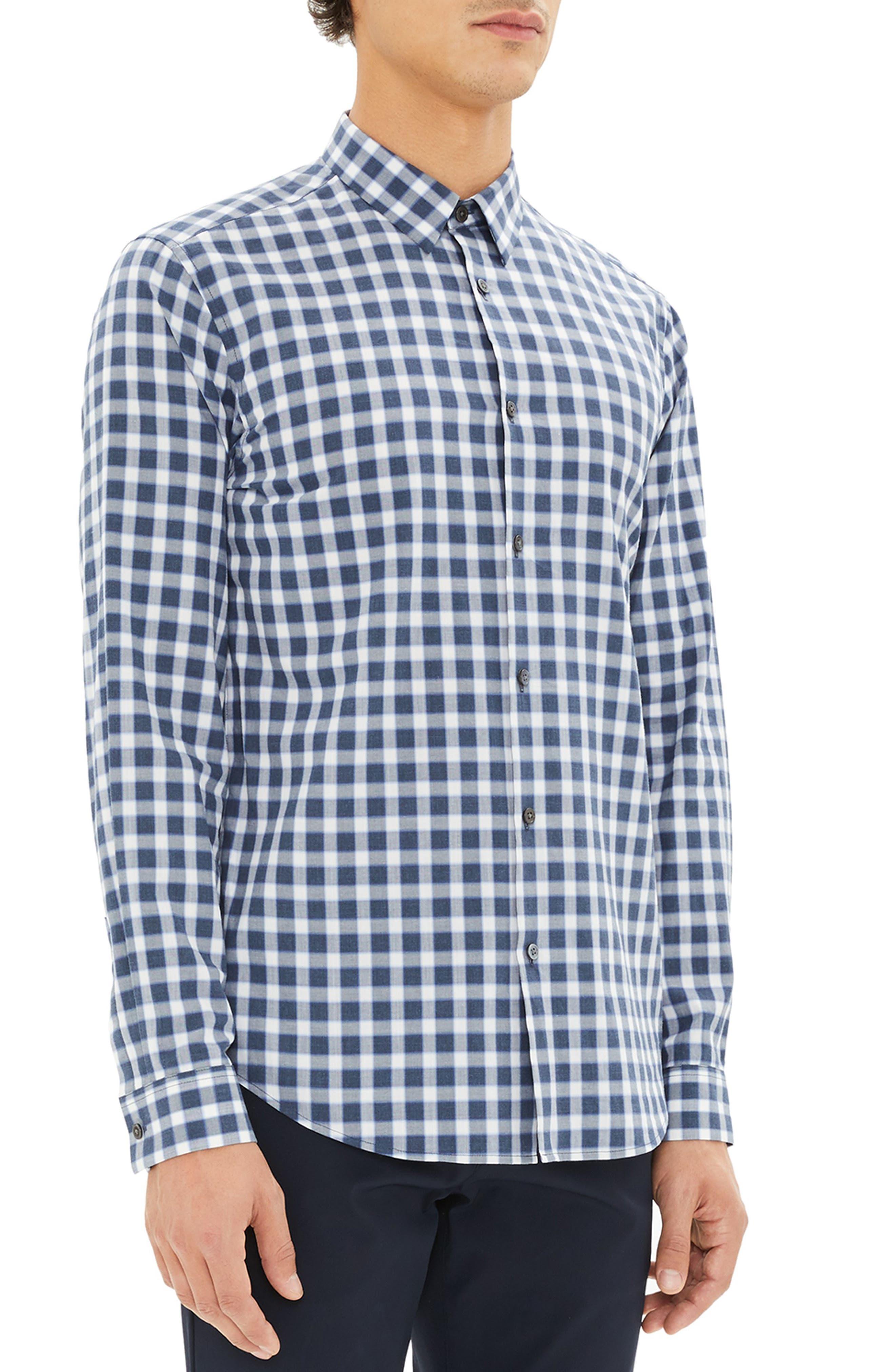 Irving Regular Fit Check Sport Shirt,                             Alternate thumbnail 3, color,                             ADMIRAL CHECK