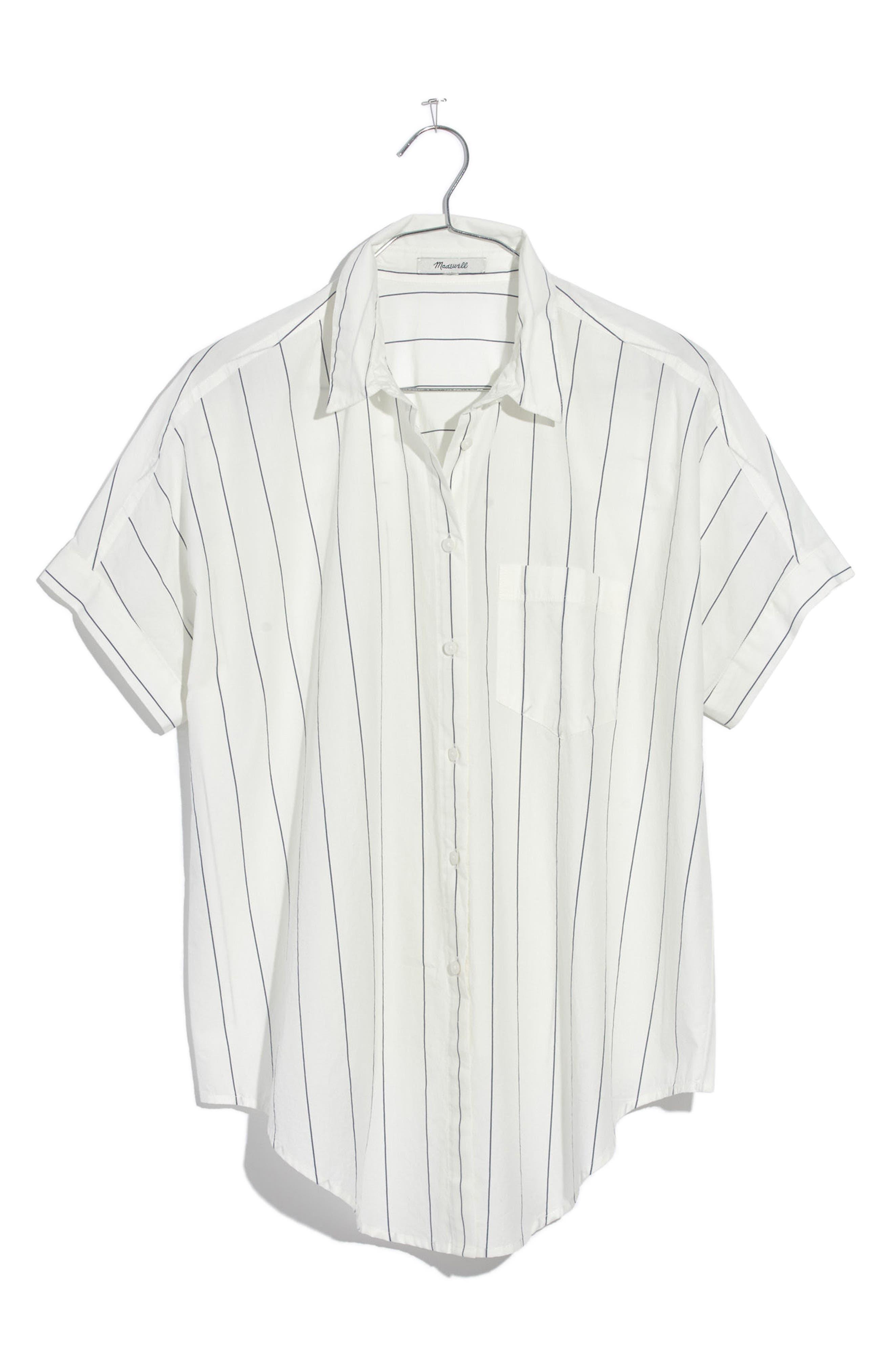 Tie Front Shirt,                             Alternate thumbnail 7, color,                             100