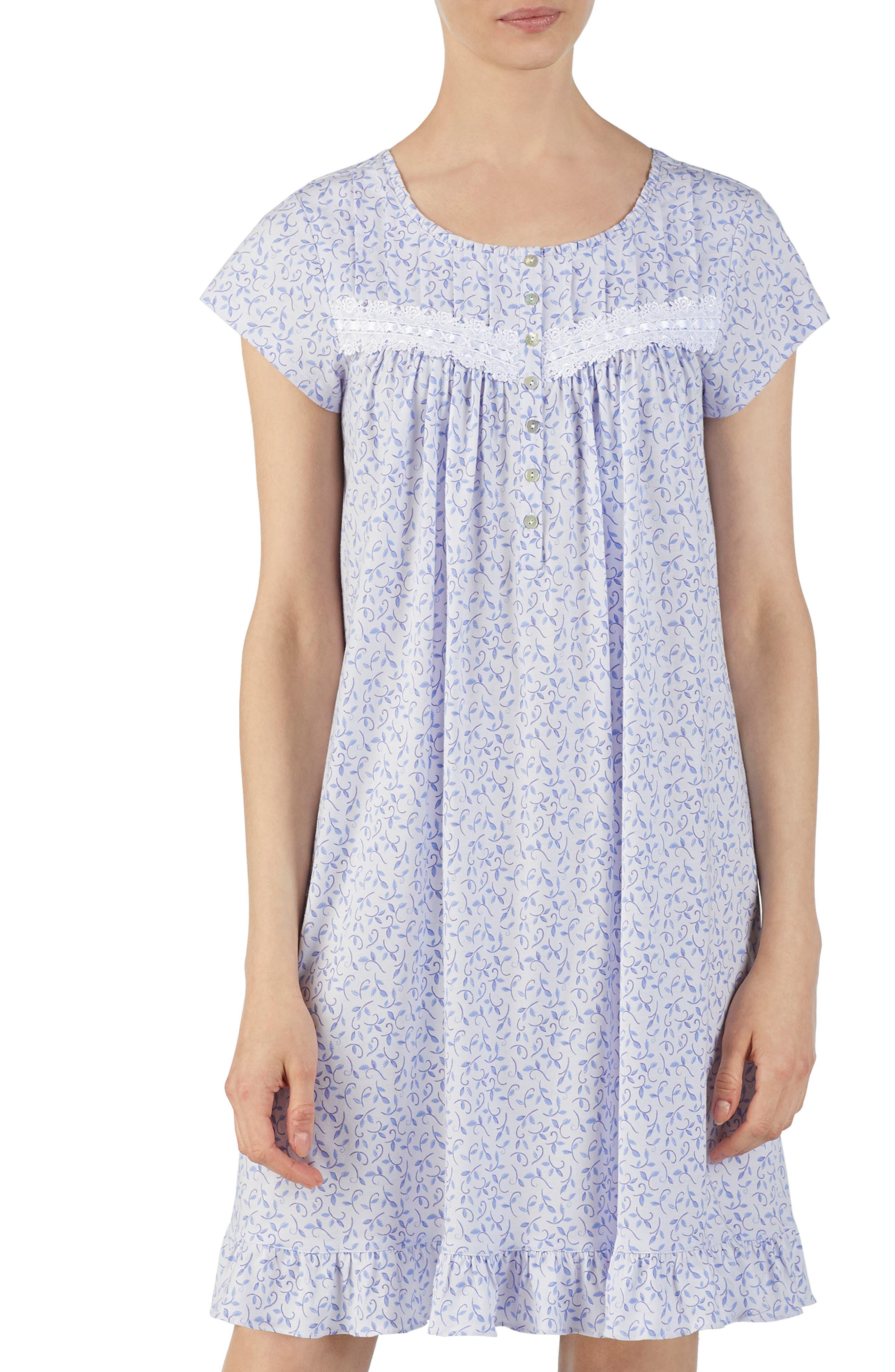 Eileen West Cotton Jersey Nightgown, Purple