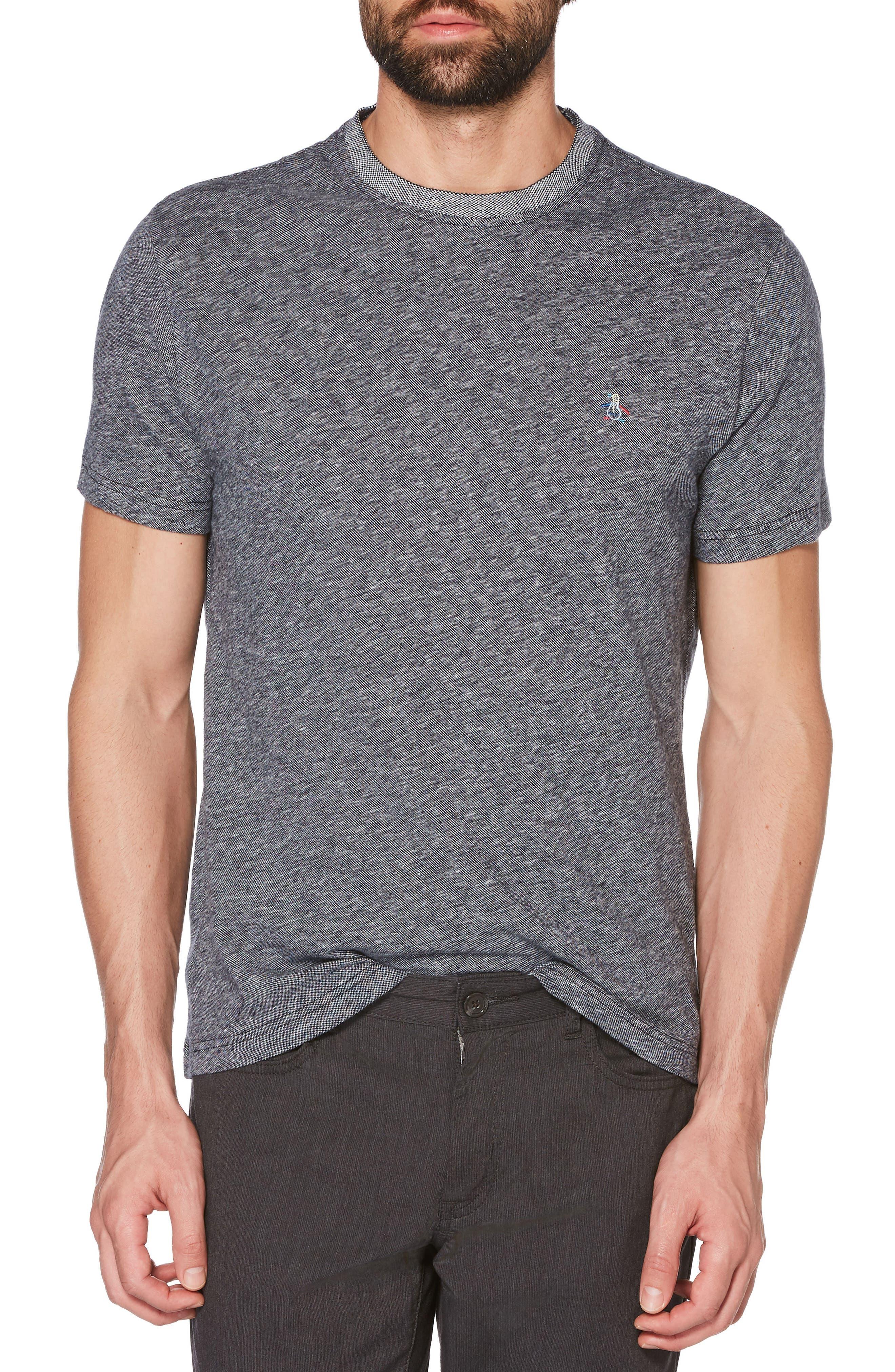 Crewneck T-Shirt,                         Main,                         color, DARK SAPPHIRE