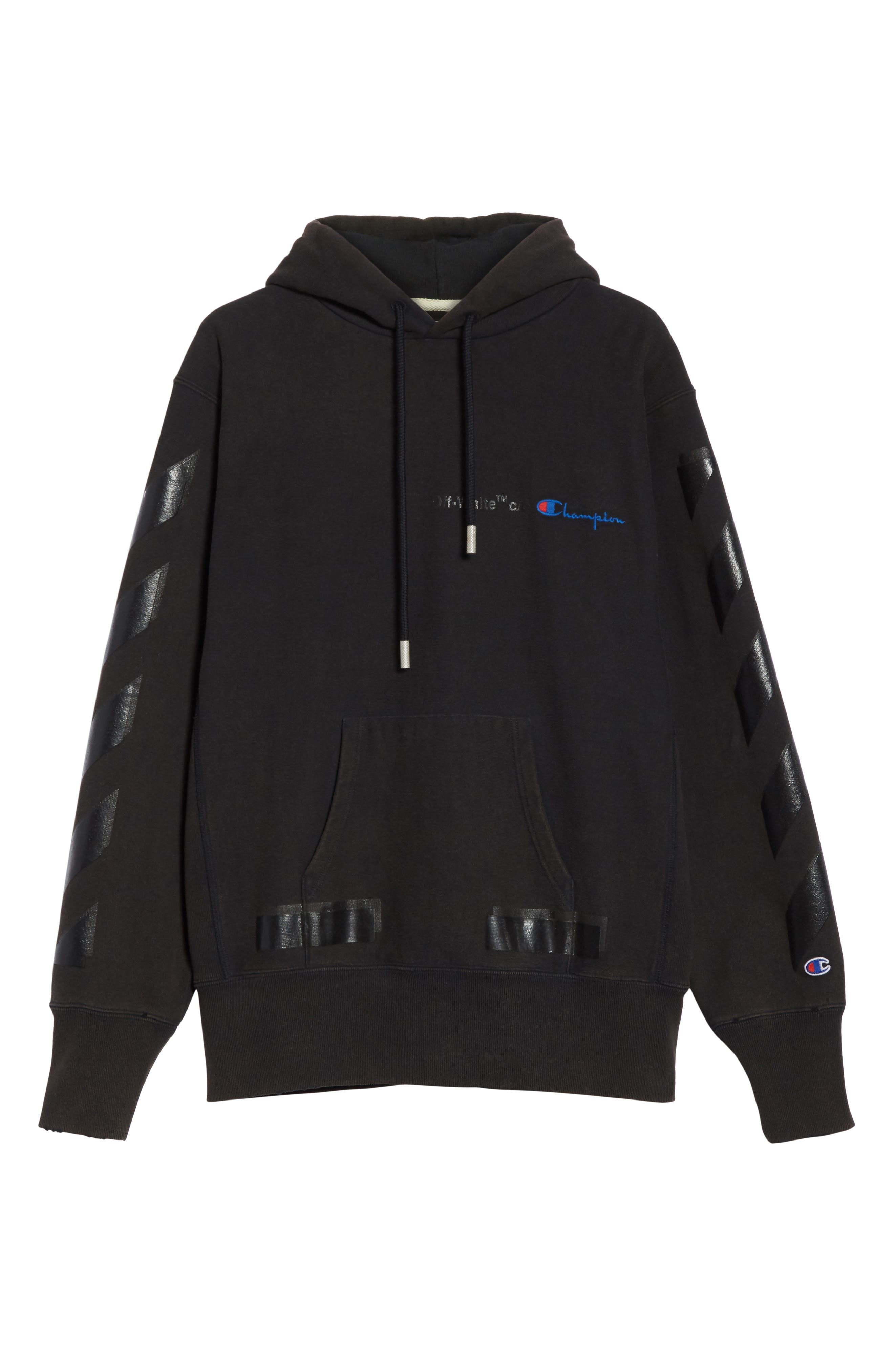 x Champion Pullover Hoodie,                             Alternate thumbnail 6, color,                             001