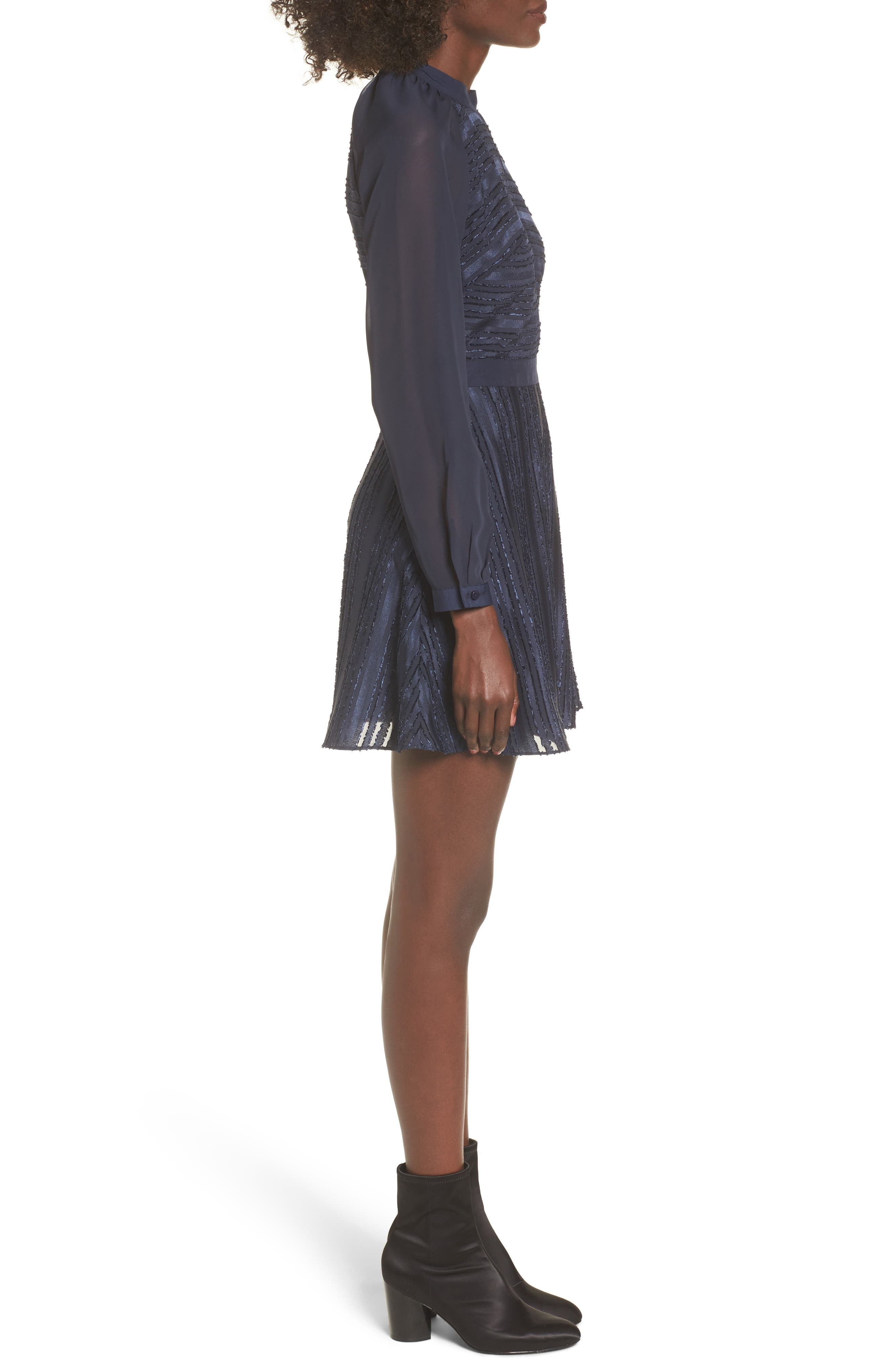 Marge Skater Dress,                             Alternate thumbnail 3, color,                             400