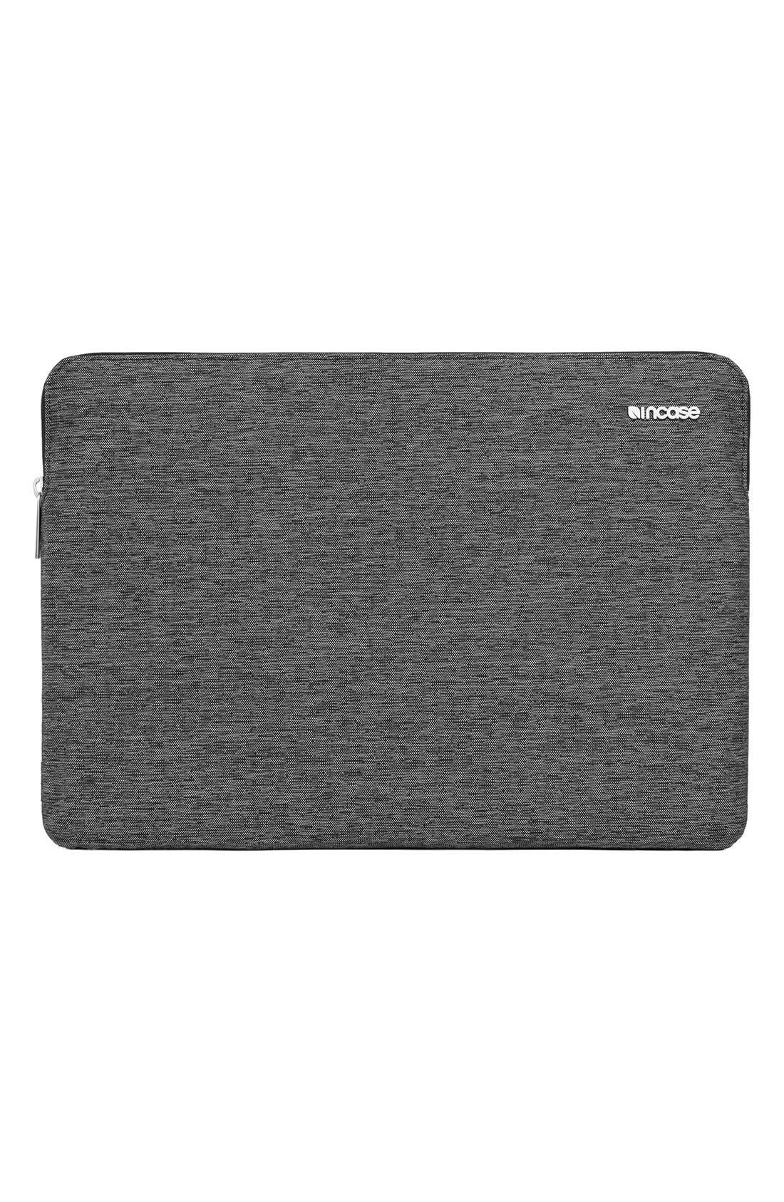 MacBook Air Sleeve,                             Alternate thumbnail 6, color,                             HEATHER  BLACK