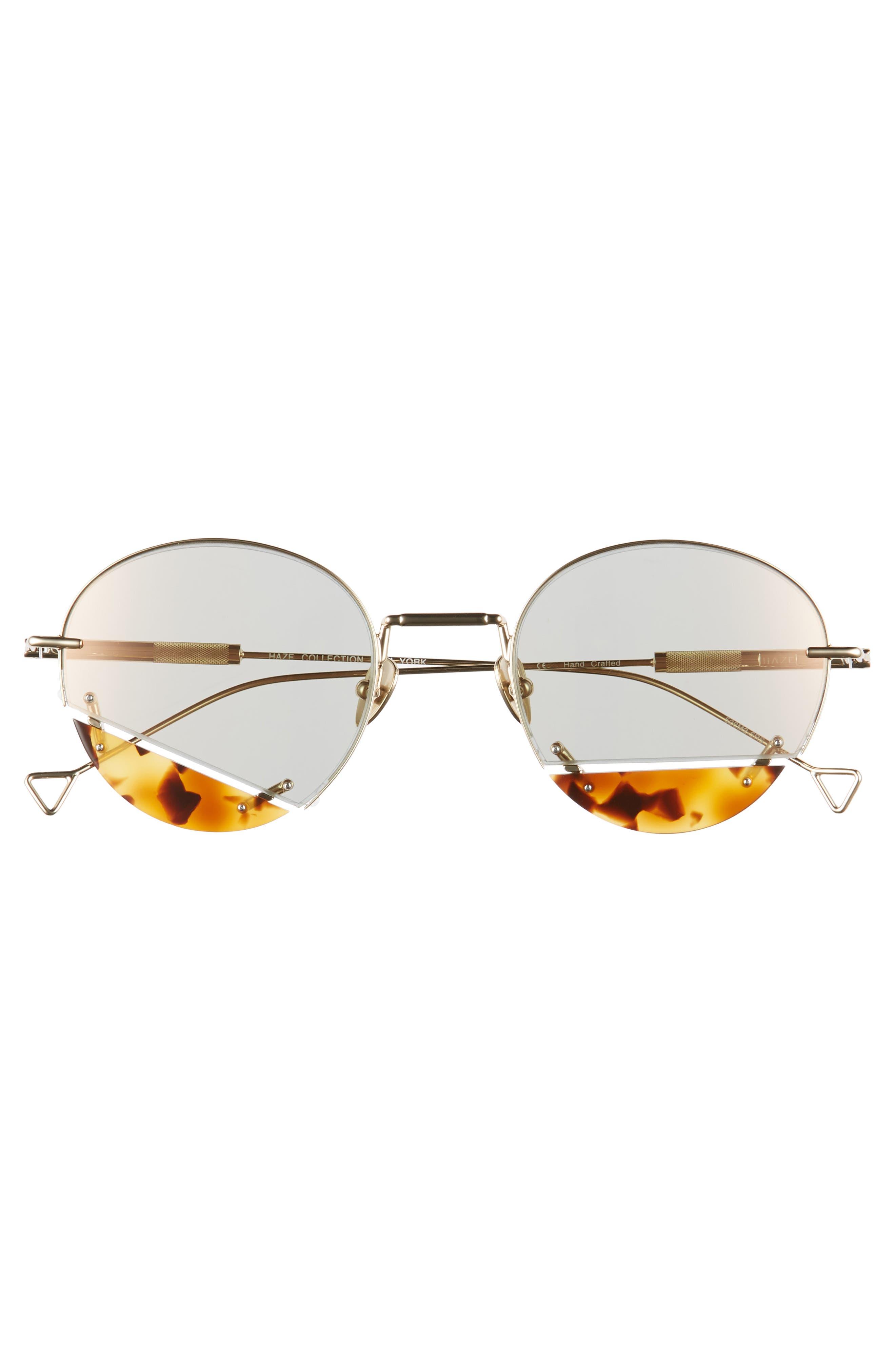 On the Corner 50mm Sunglasses,                             Alternate thumbnail 3, color,                             CHAMPAGNE