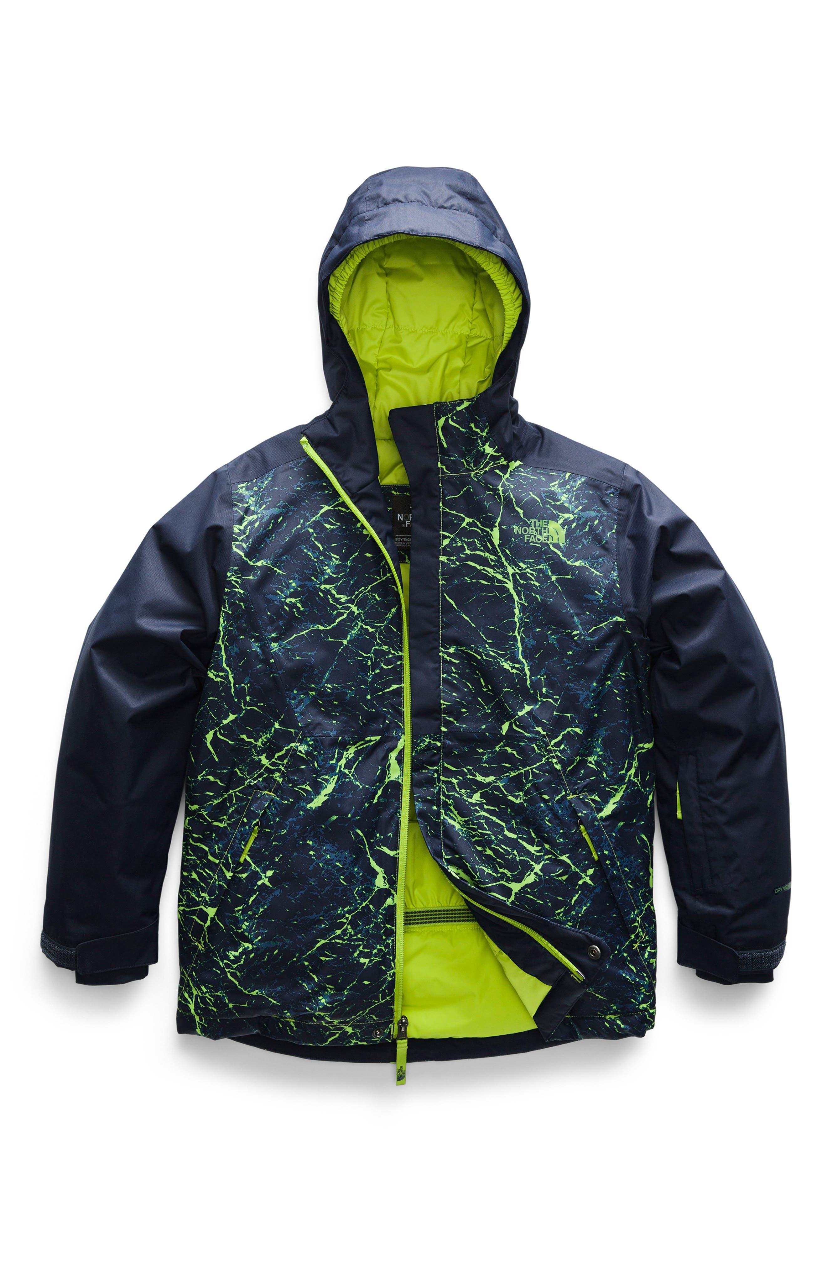 Boys The North Face Brayden Waterproof  Windproof Heatseeker(TM) Insulated Snowsports Jacket Size L (1416)  Green