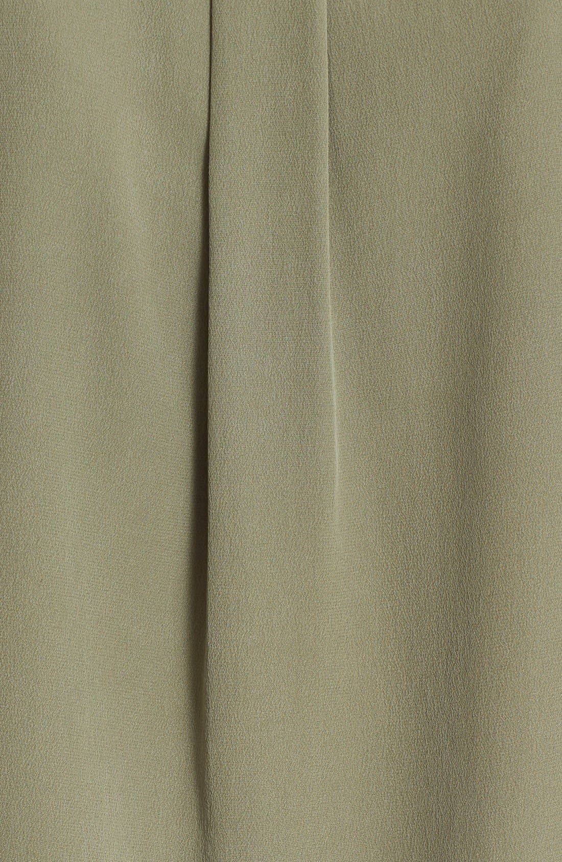 'Slim Signature' Sleeveless Silk Shirt,                             Alternate thumbnail 110, color,