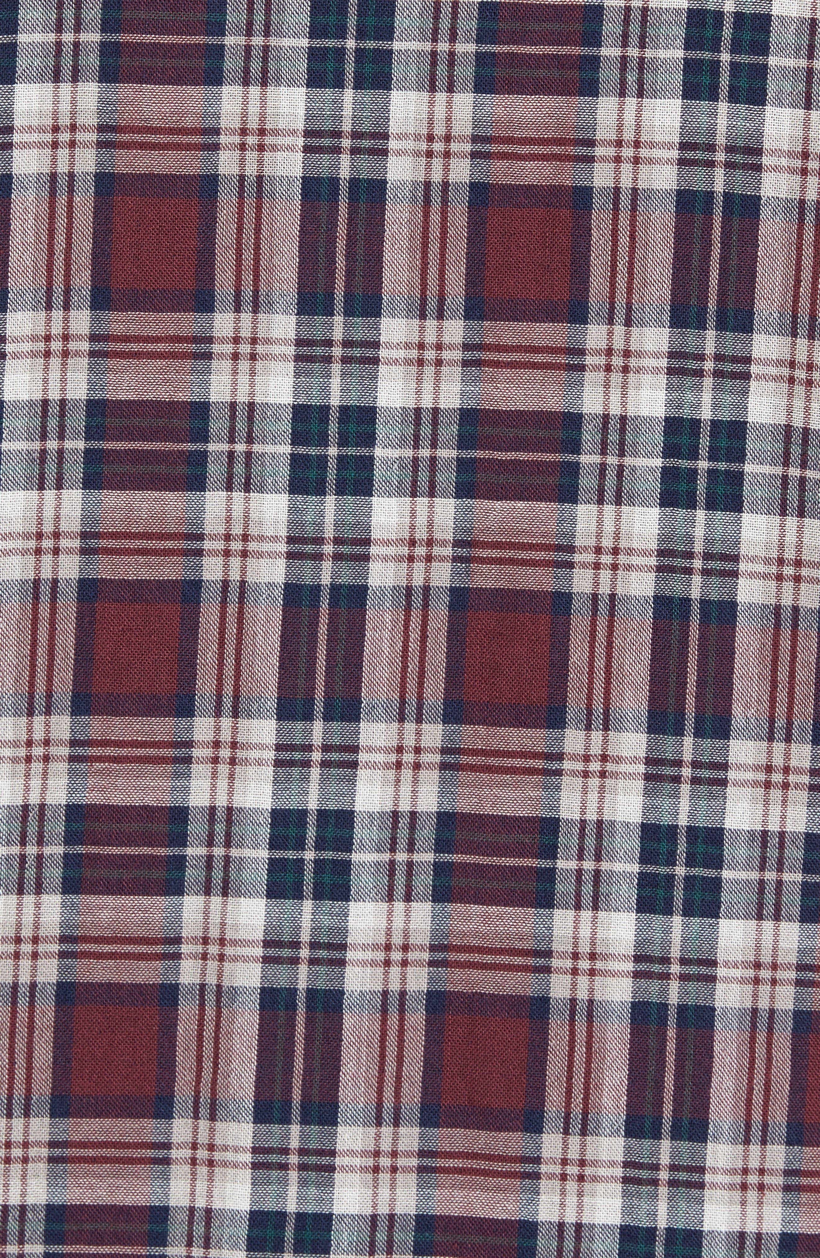 Lumber Duofold Slim Fit Plaid Shirt,                             Alternate thumbnail 5, color,                             938
