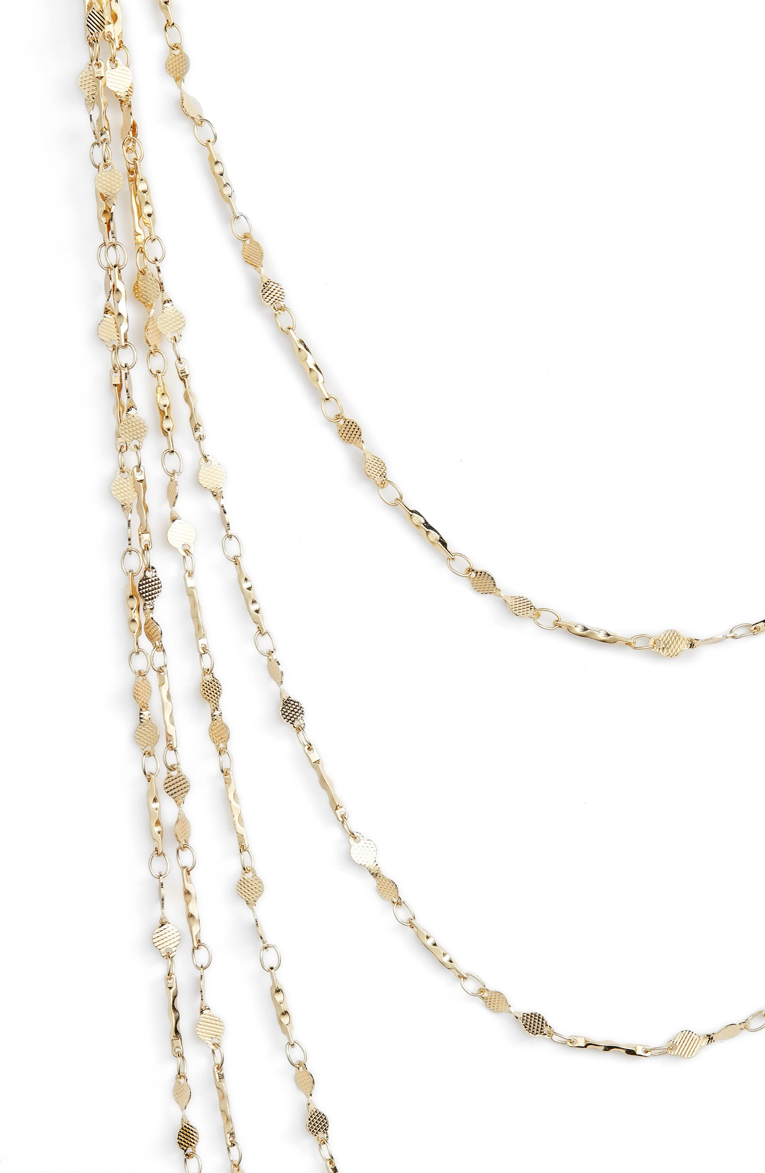 5-Strand Necklace,                             Alternate thumbnail 2, color,                             GOLD