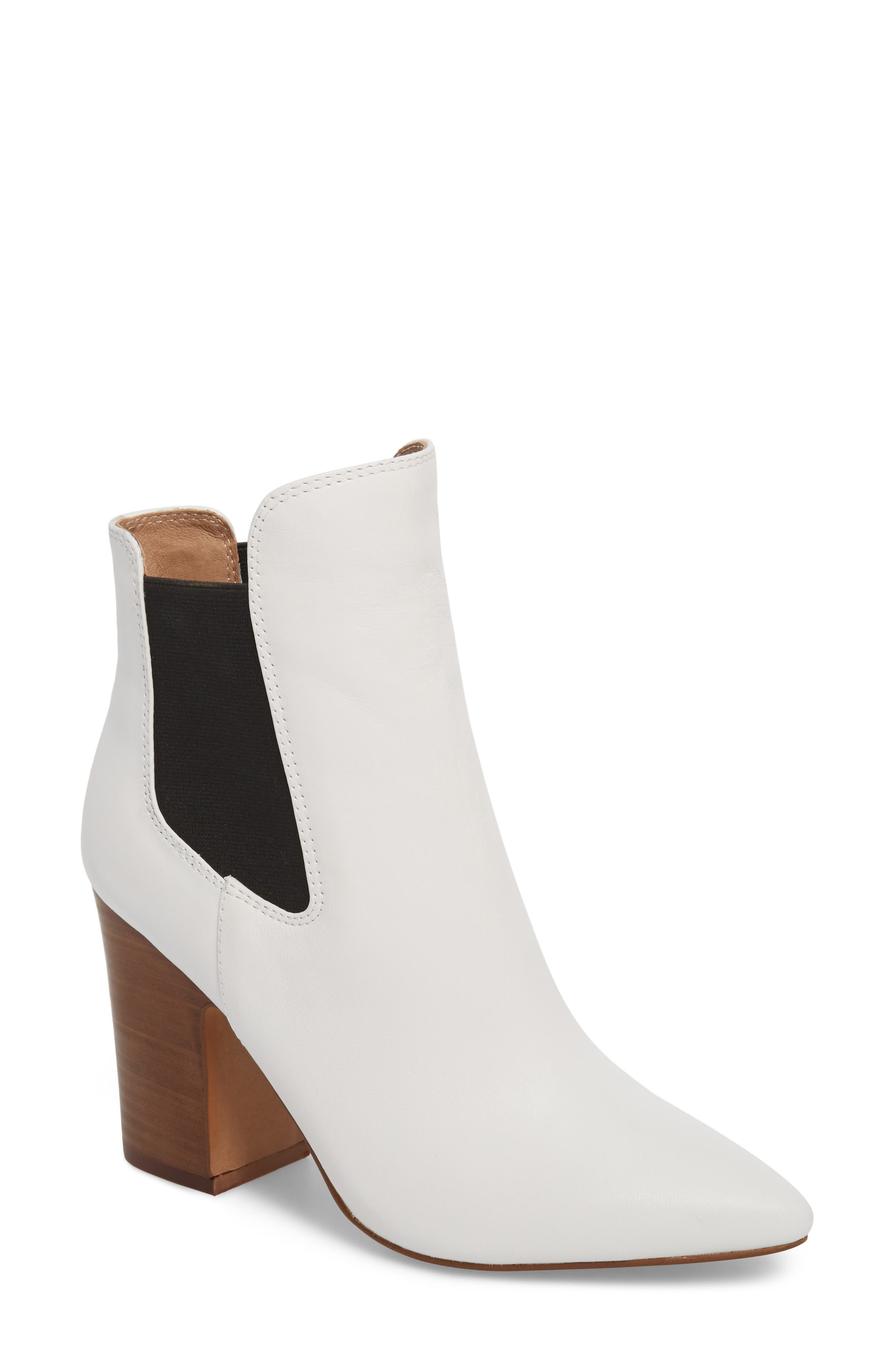 Starlight Bootie,                         Main,                         color, WHITE LEATHER