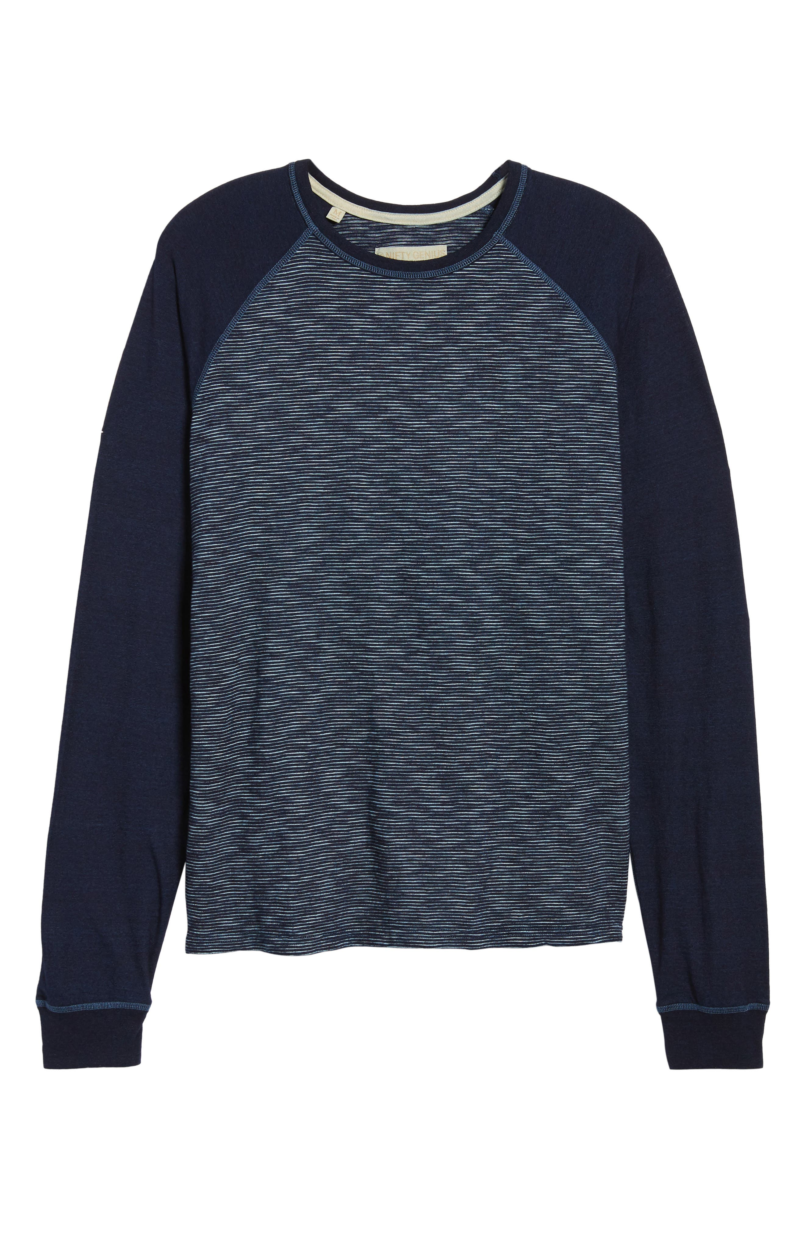 NIFTY GENIUS,                             Jackie Stripe Raglan Pullover,                             Alternate thumbnail 6, color,                             401