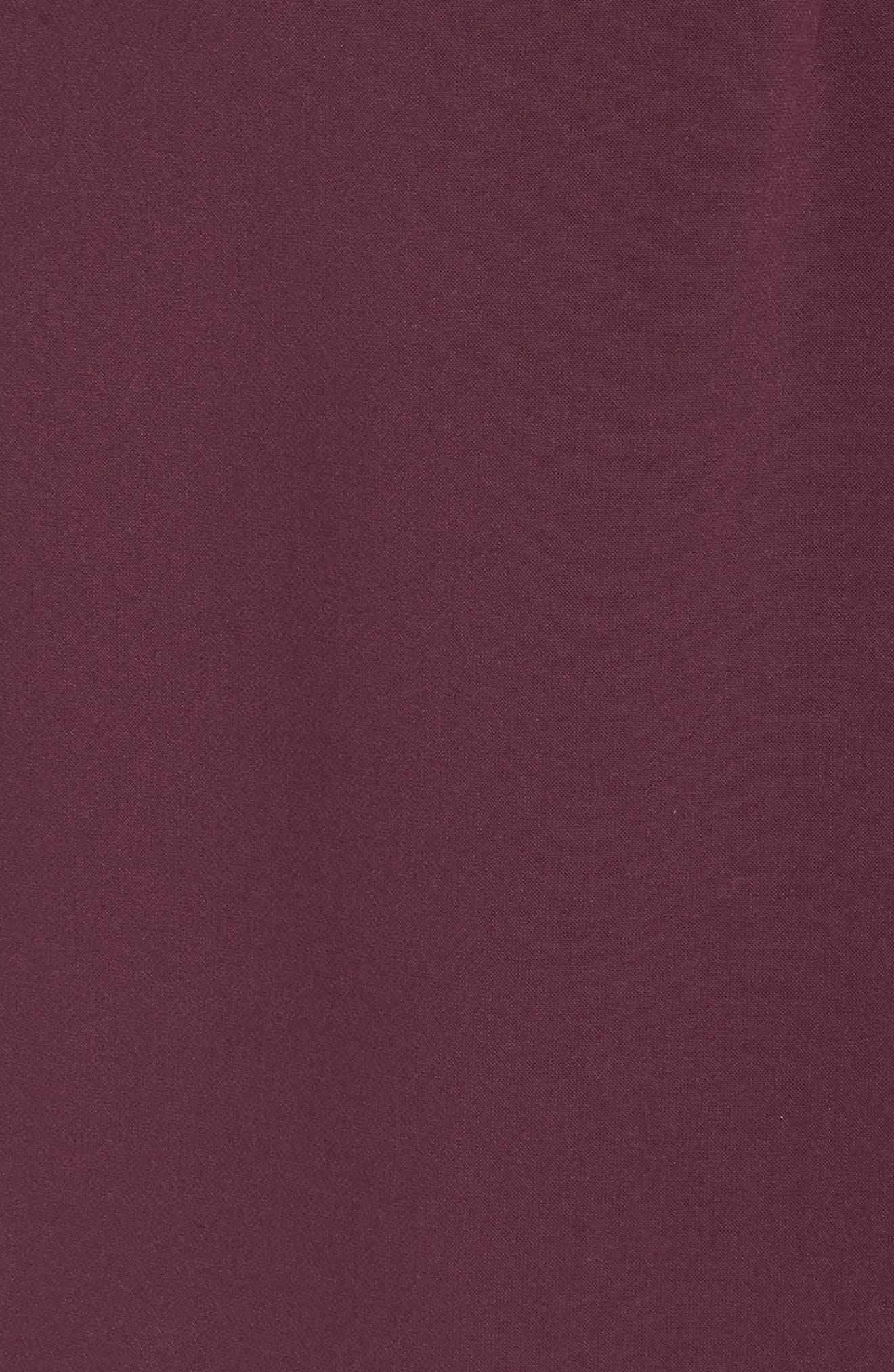 Whisper Light Sweetheart Minidress,                             Alternate thumbnail 6, color,                             PLUM NOIR