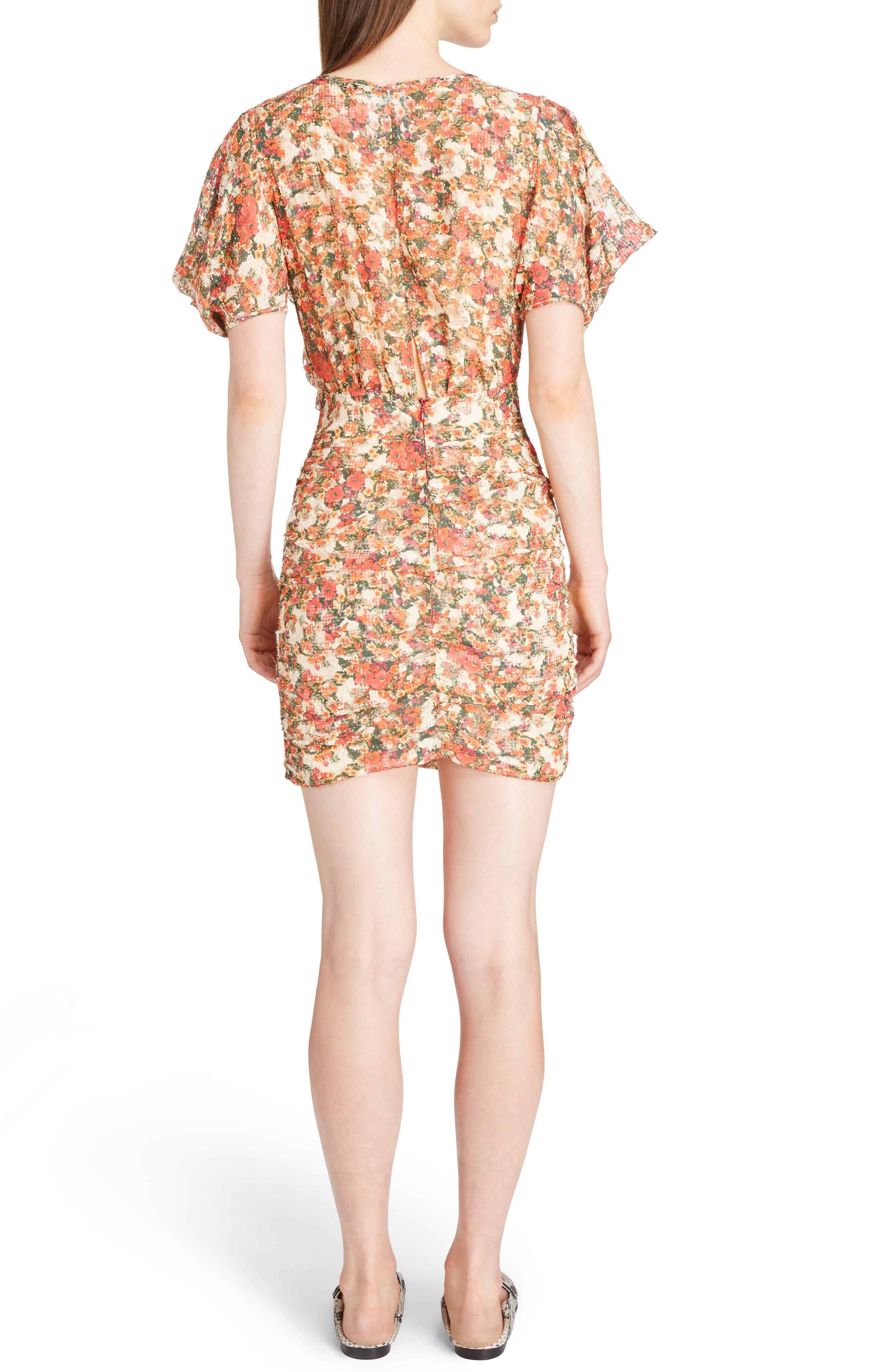 Floral Print Ruffle Dress,                             Alternate thumbnail 2, color,                             600