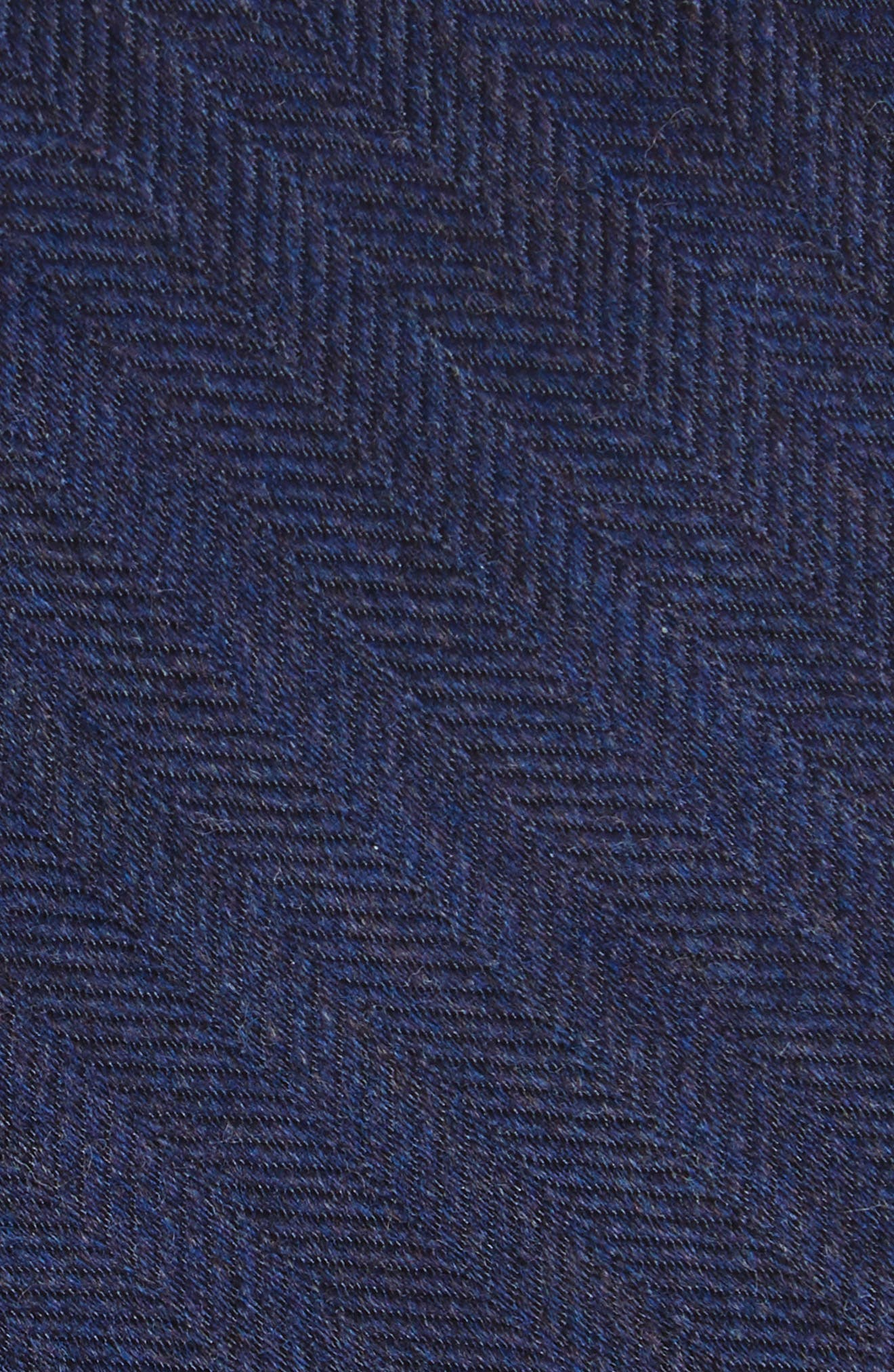 Herringbone Wool & Silk Tie,                             Alternate thumbnail 9, color,