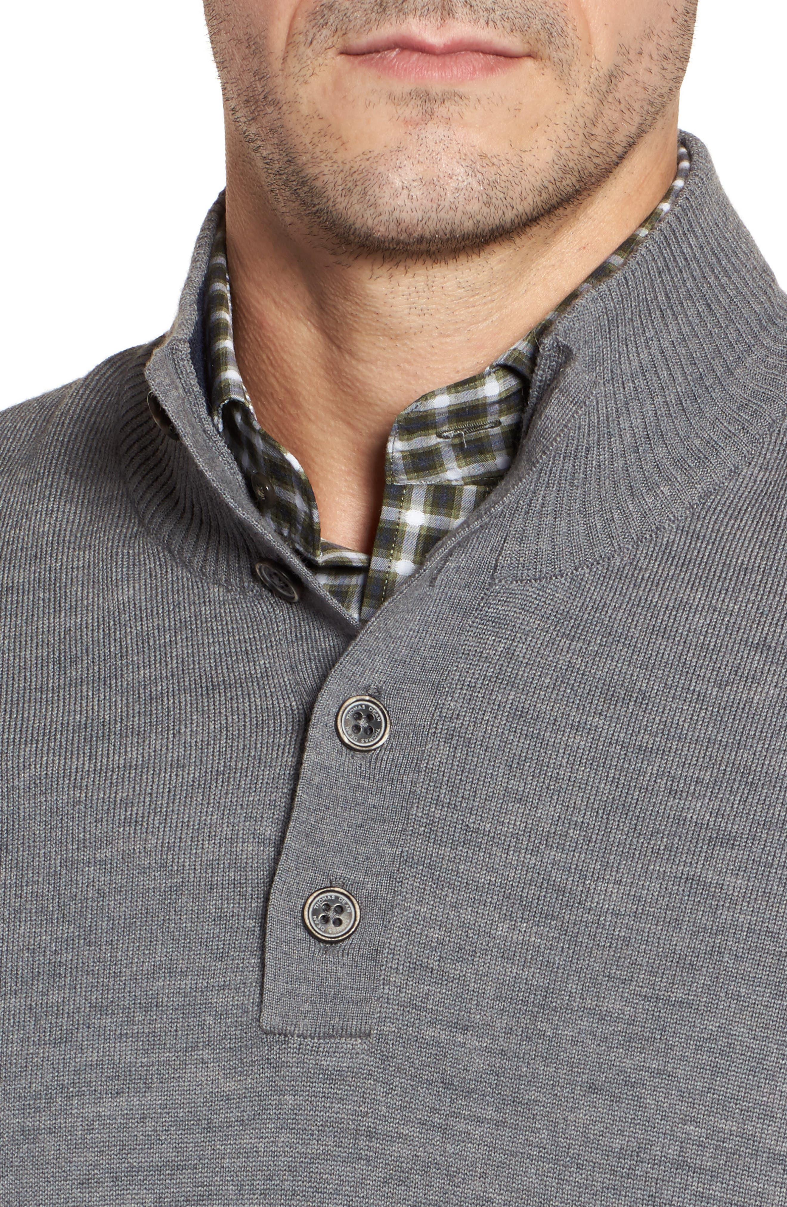 Merino Wool Blend Mock Neck Sweater,                             Alternate thumbnail 11, color,