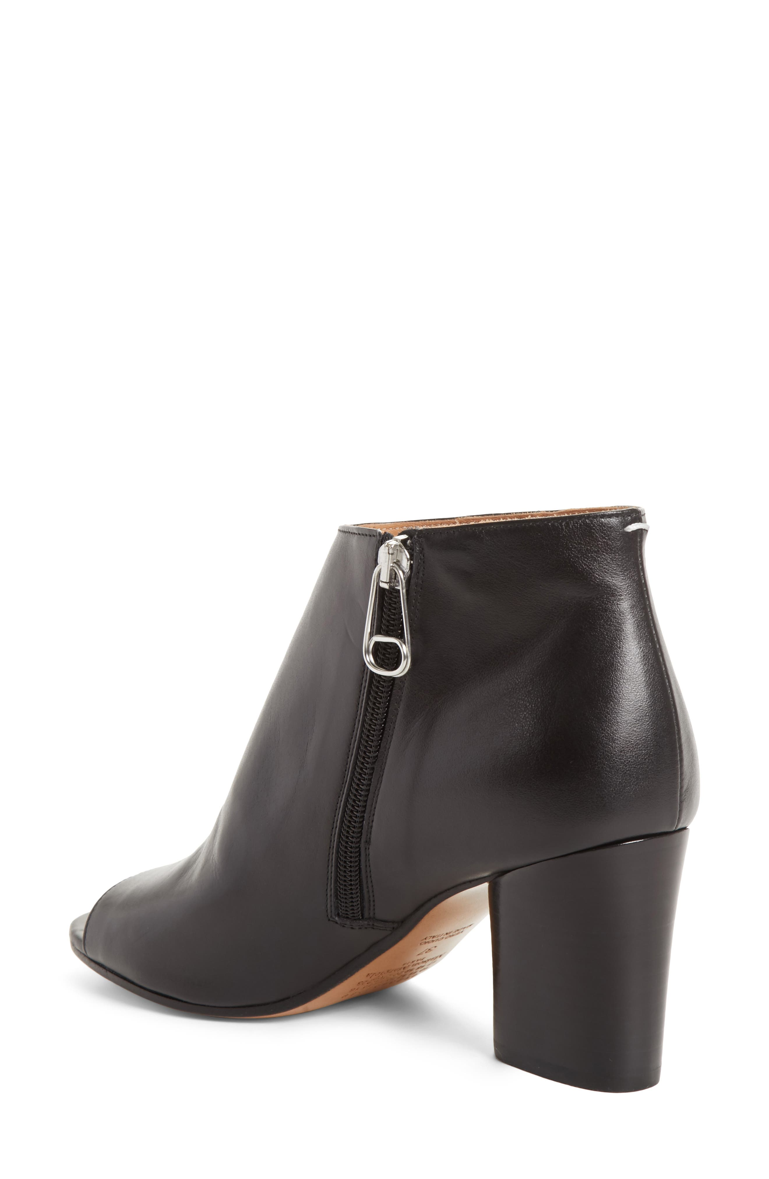 Open Toe Ankle Boot,                             Alternate thumbnail 2, color,                             001