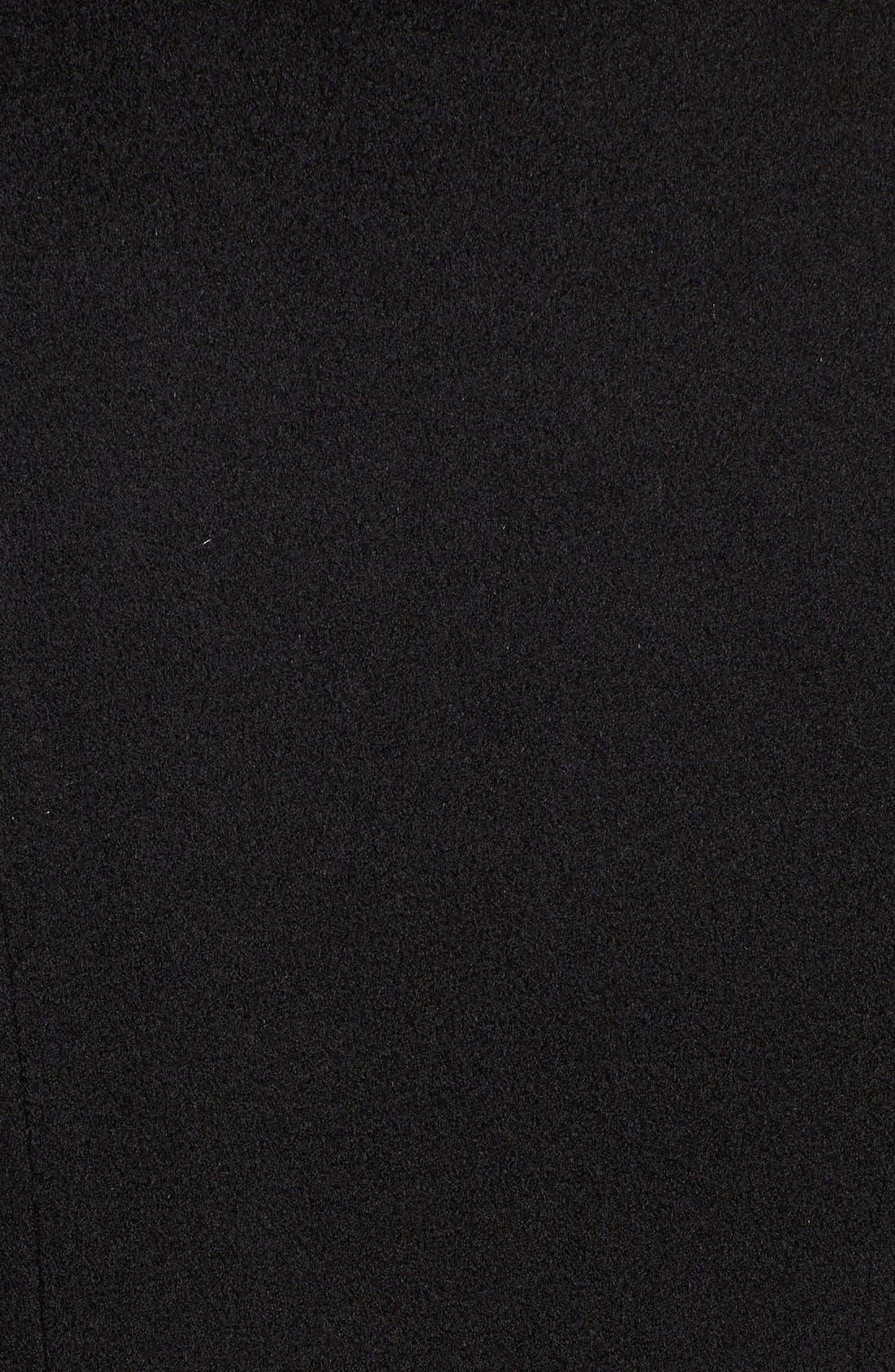 Fit & Flare Wool Coat,                             Alternate thumbnail 5, color,                             001