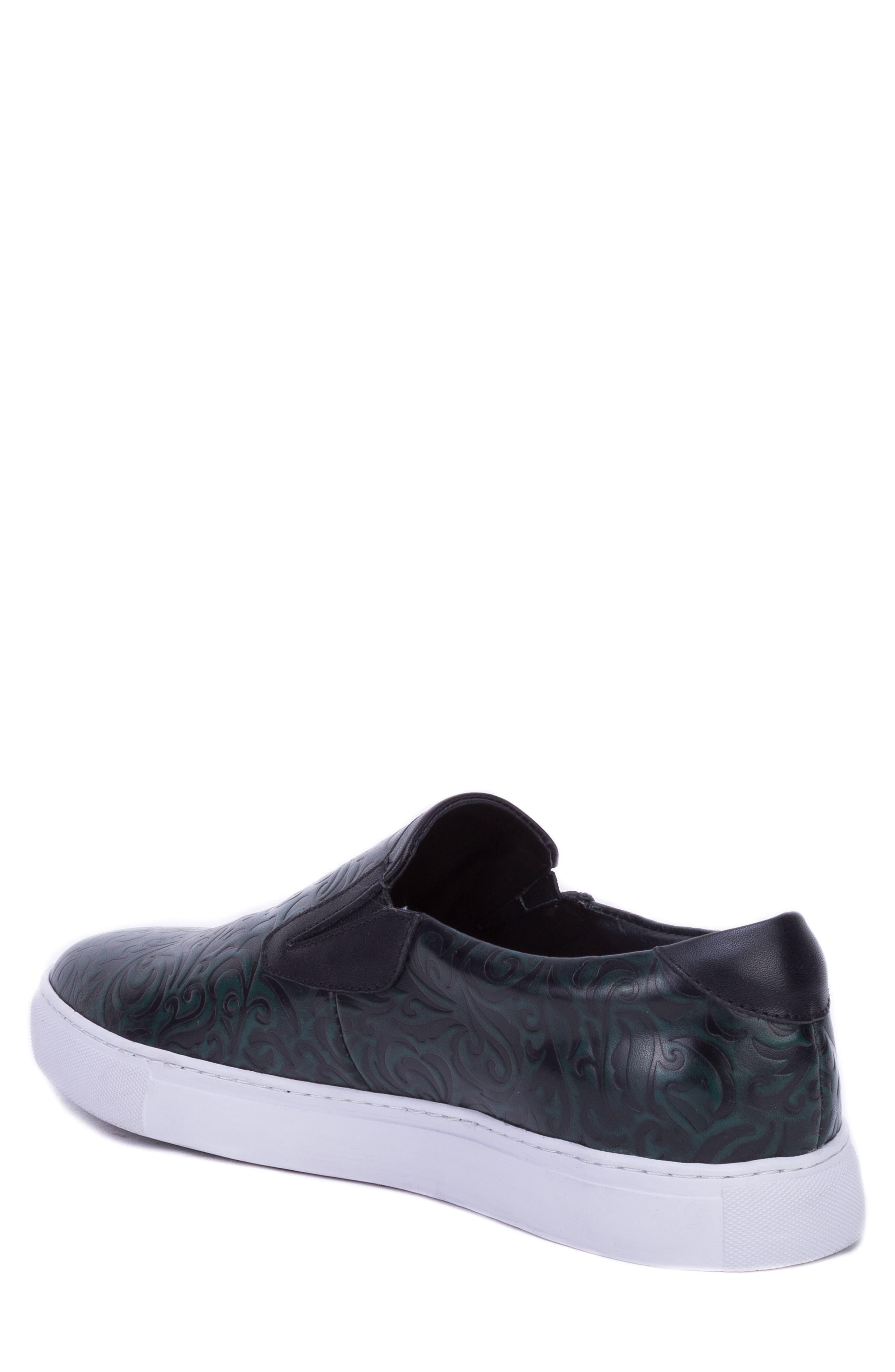 Lanning Slip-On Sneaker,                             Alternate thumbnail 2, color,                             GREEN LEATHER