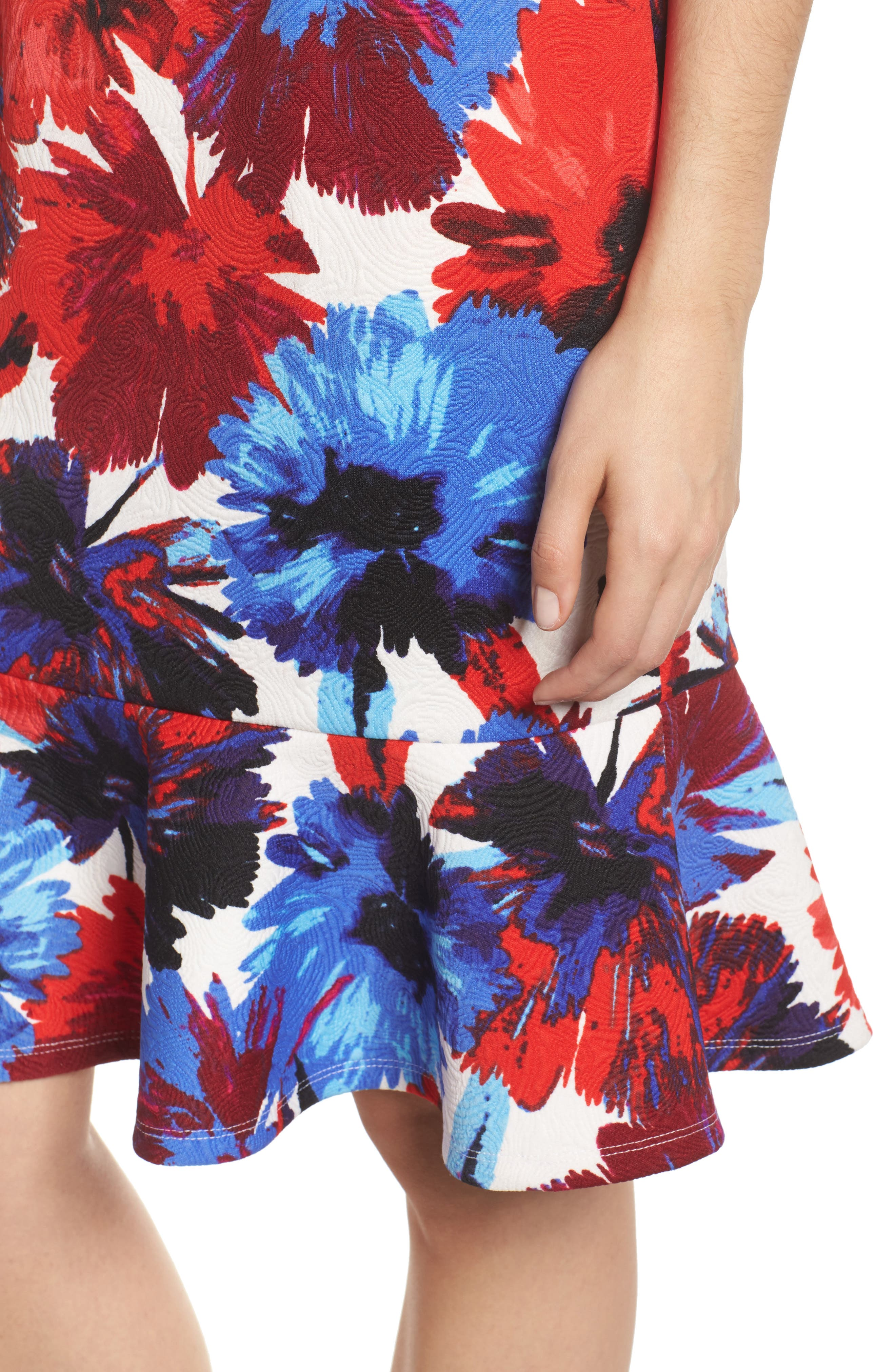Flounce Dress,                             Alternate thumbnail 4, color,                             640