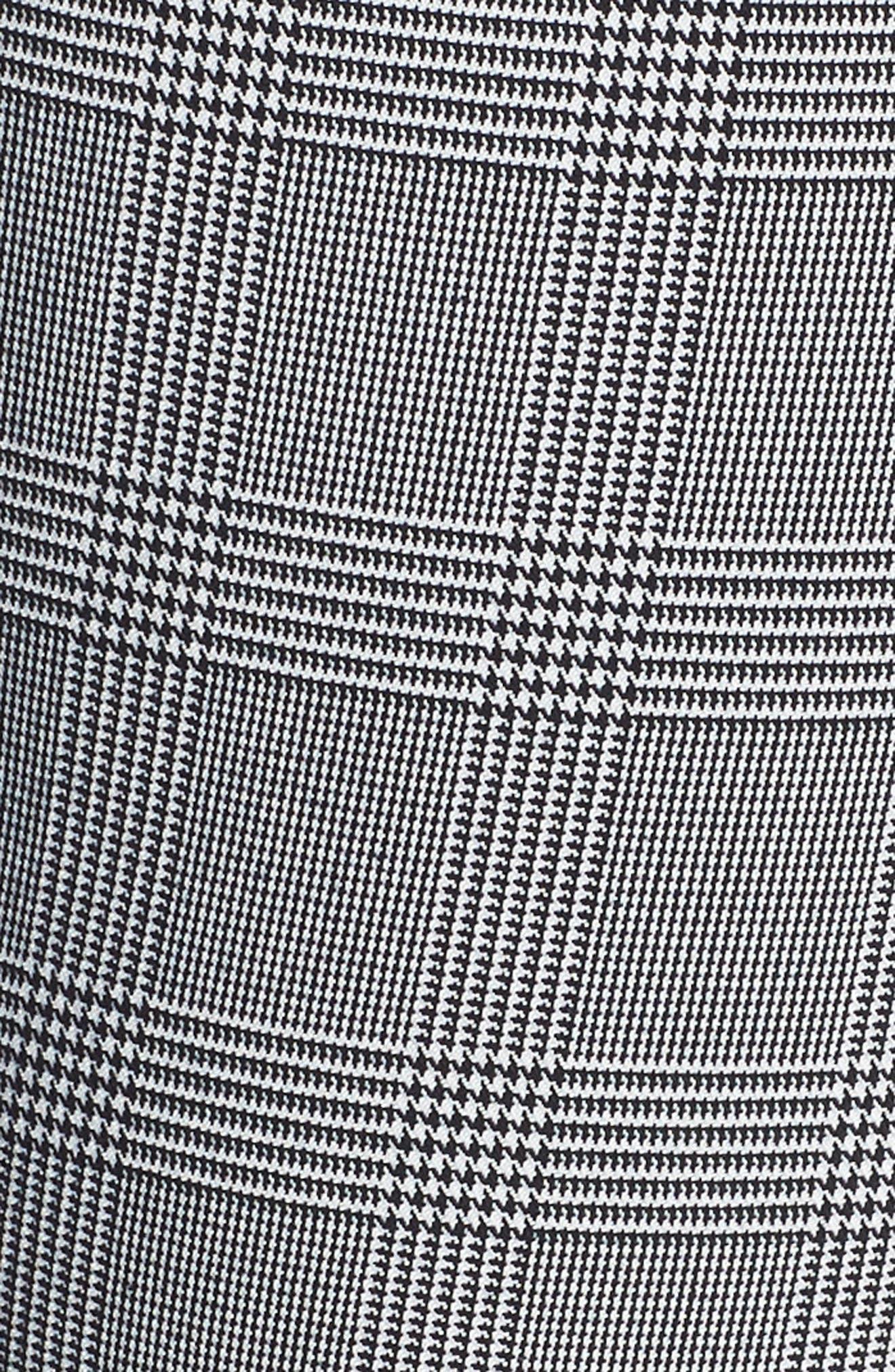 Paperbag Taper Leg Ankle Pants,                             Alternate thumbnail 12, color,                             GREY/ BLACK