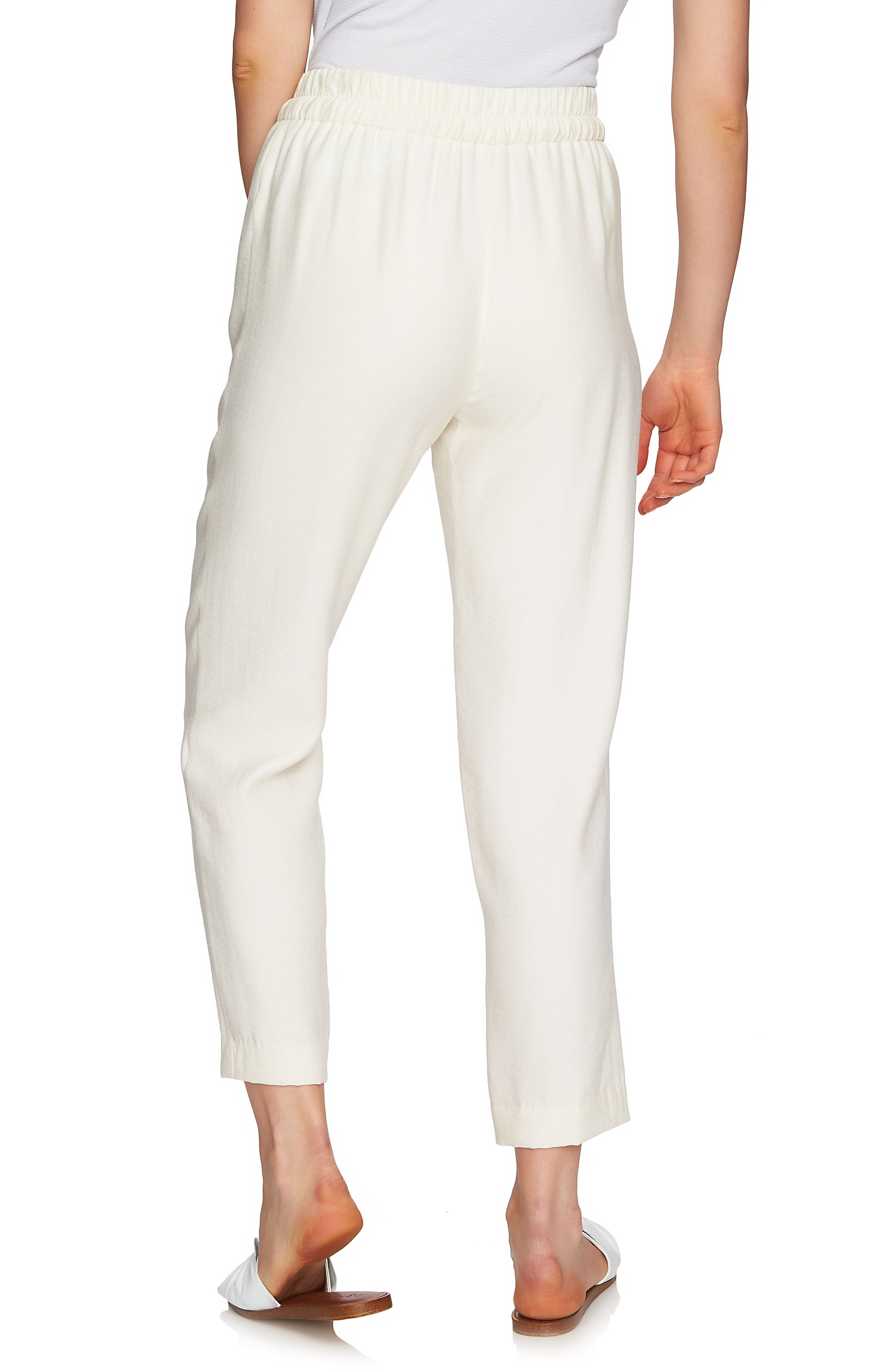 Flat Front Tapered Leg Pants,                             Alternate thumbnail 2, color,                             ANTIQUE WHITE