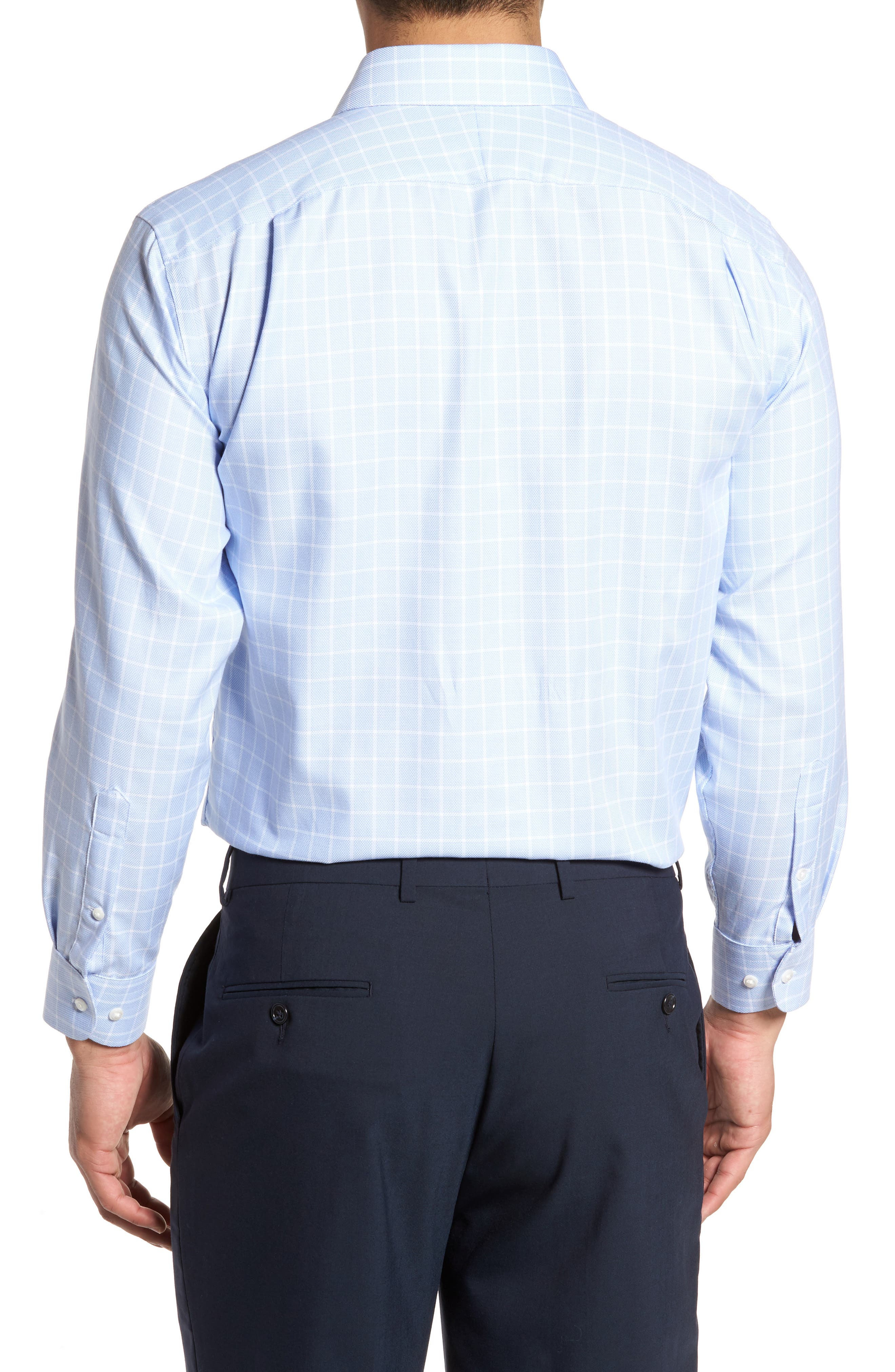 Traditional Fit Non-Iron Check Dress Shirt,                             Alternate thumbnail 5, color,