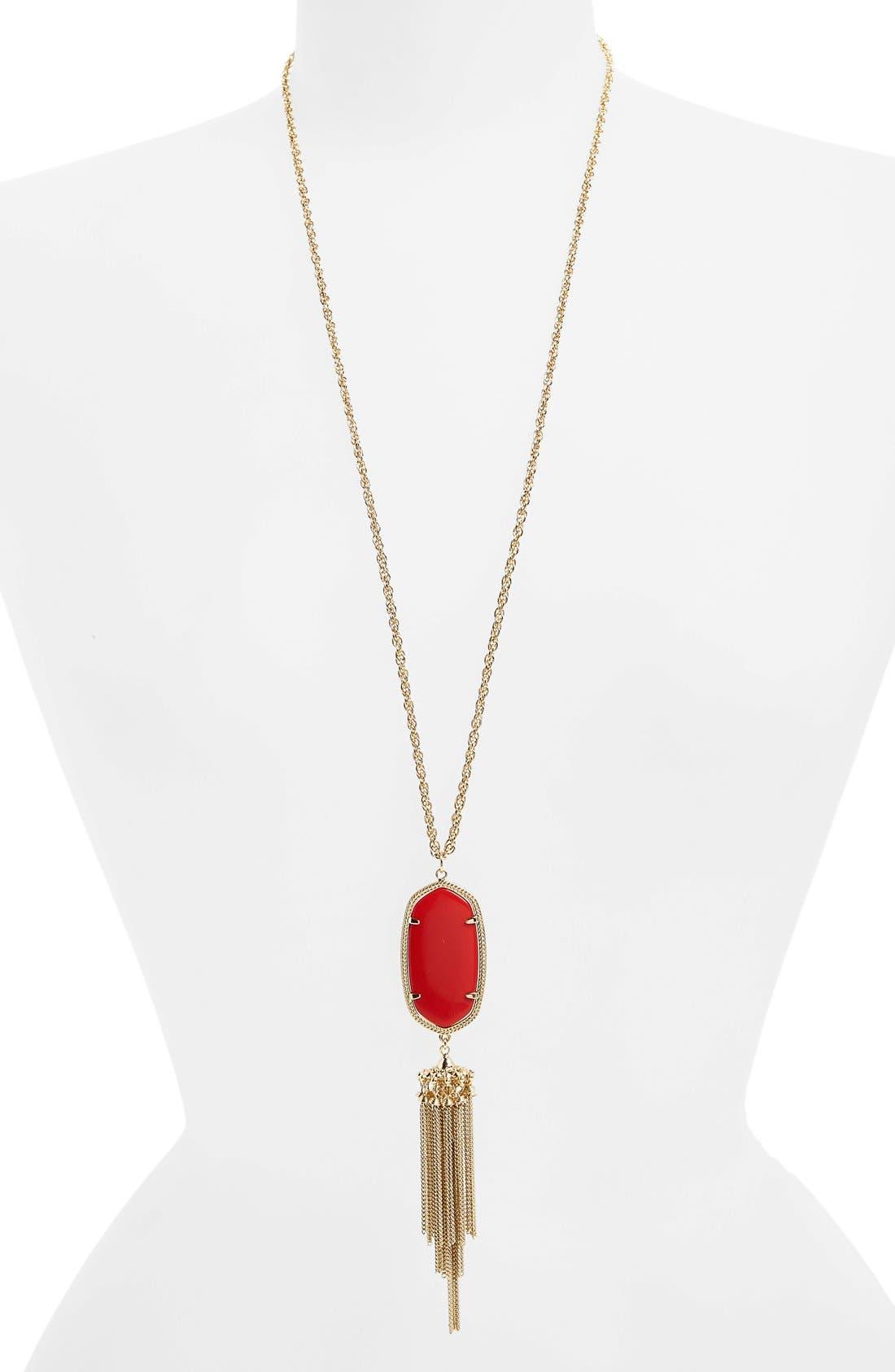 'Rayne' Tassel Pendant Necklace,                             Main thumbnail 3, color,