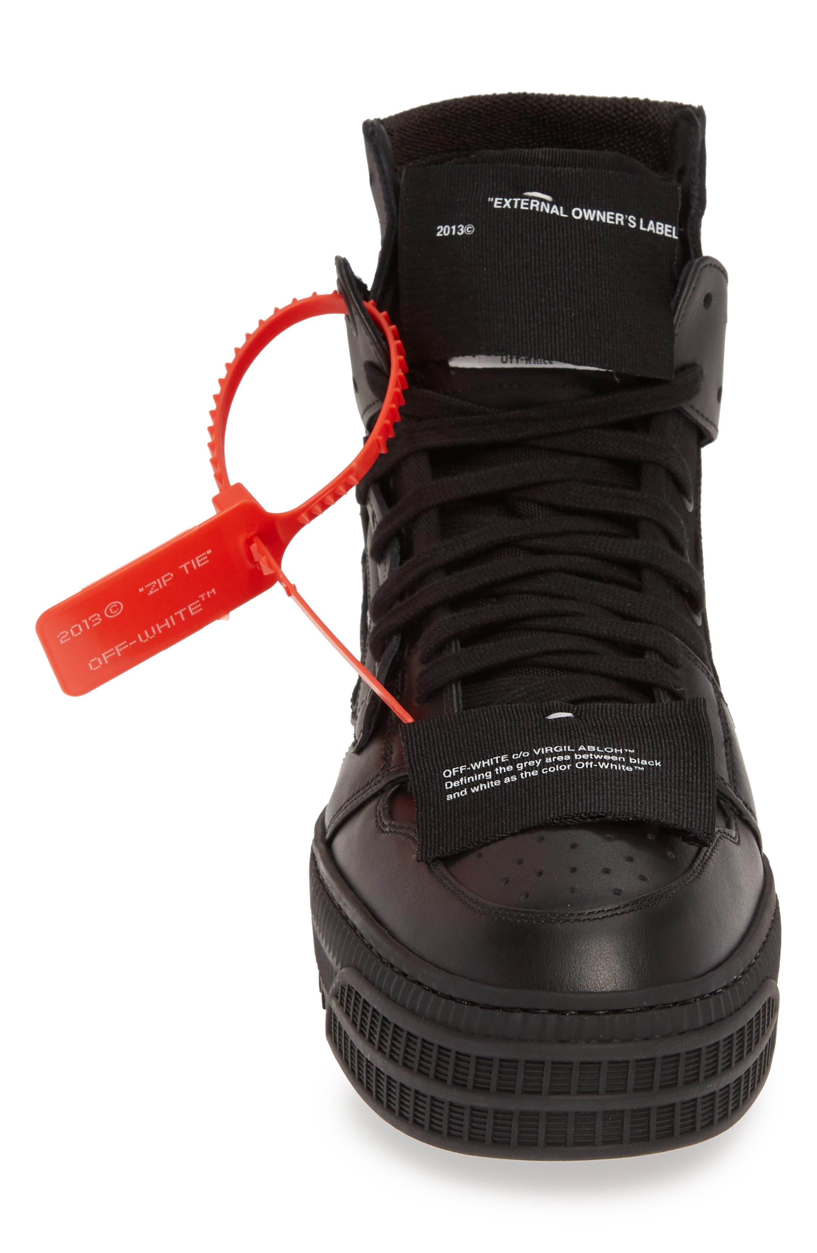 OFF-WHITE,                             Off Court Sneaker,                             Alternate thumbnail 4, color,                             BLACK