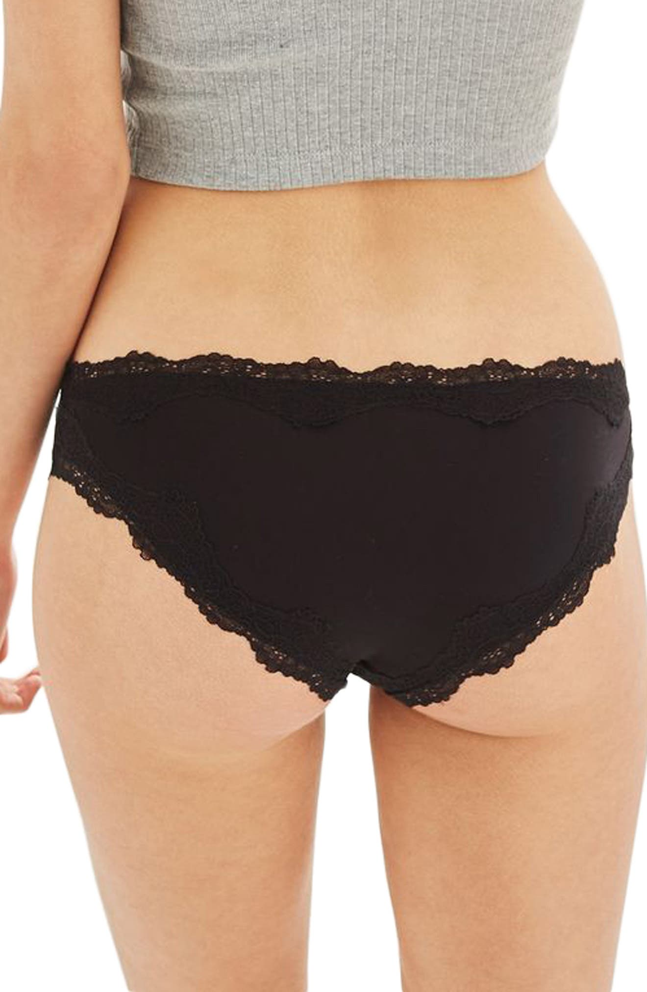 Microfiber French Panties,                             Alternate thumbnail 2, color,                             001
