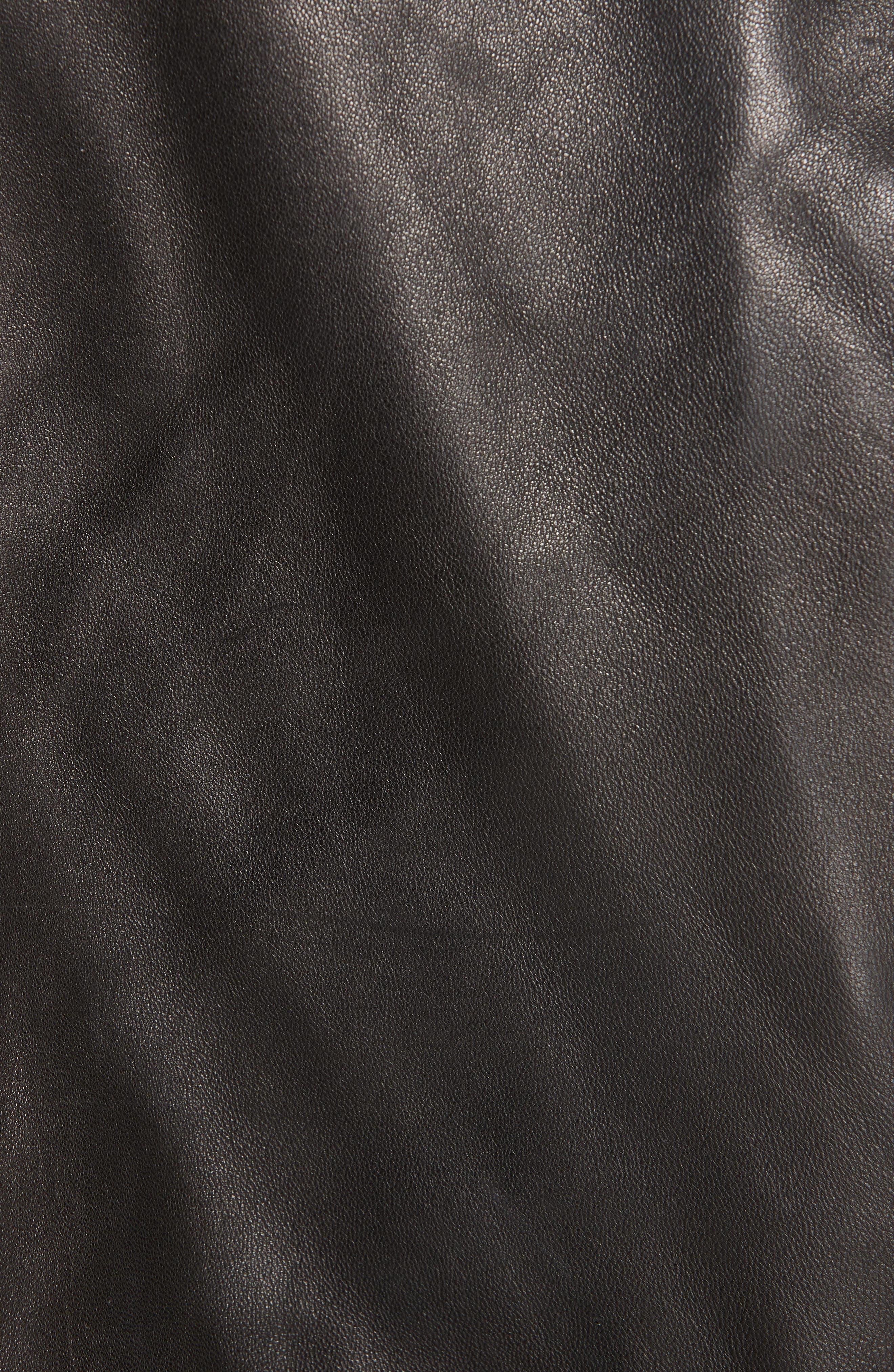Lambskin Leather Jacket,                             Alternate thumbnail 7, color,                             BLACK