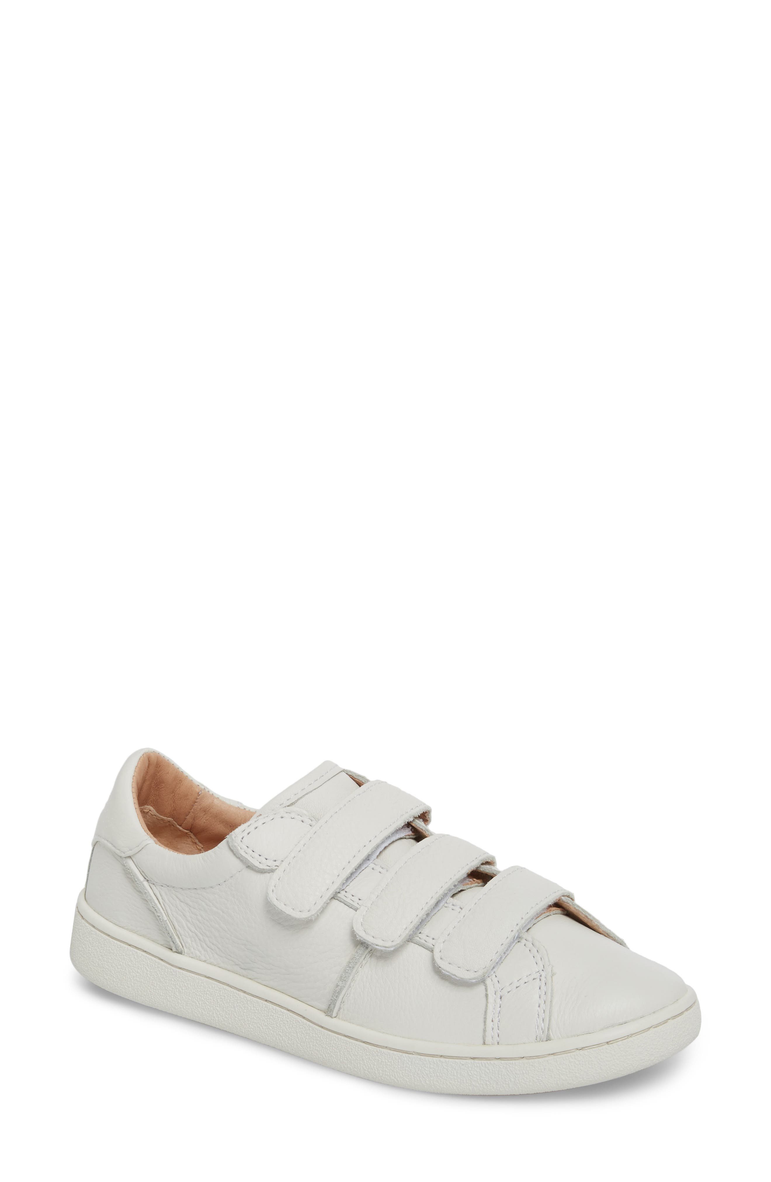 Alix Sneaker,                         Main,                         color, WHITE LEATHER