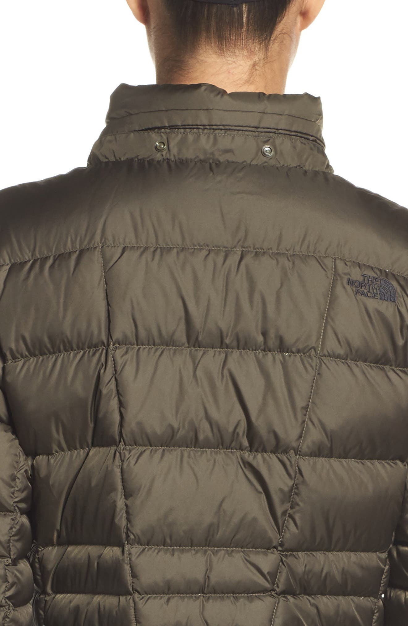 Metropolis II Hooded Water Resistant Down Parka,                             Alternate thumbnail 4, color,                             NEW TAUPE