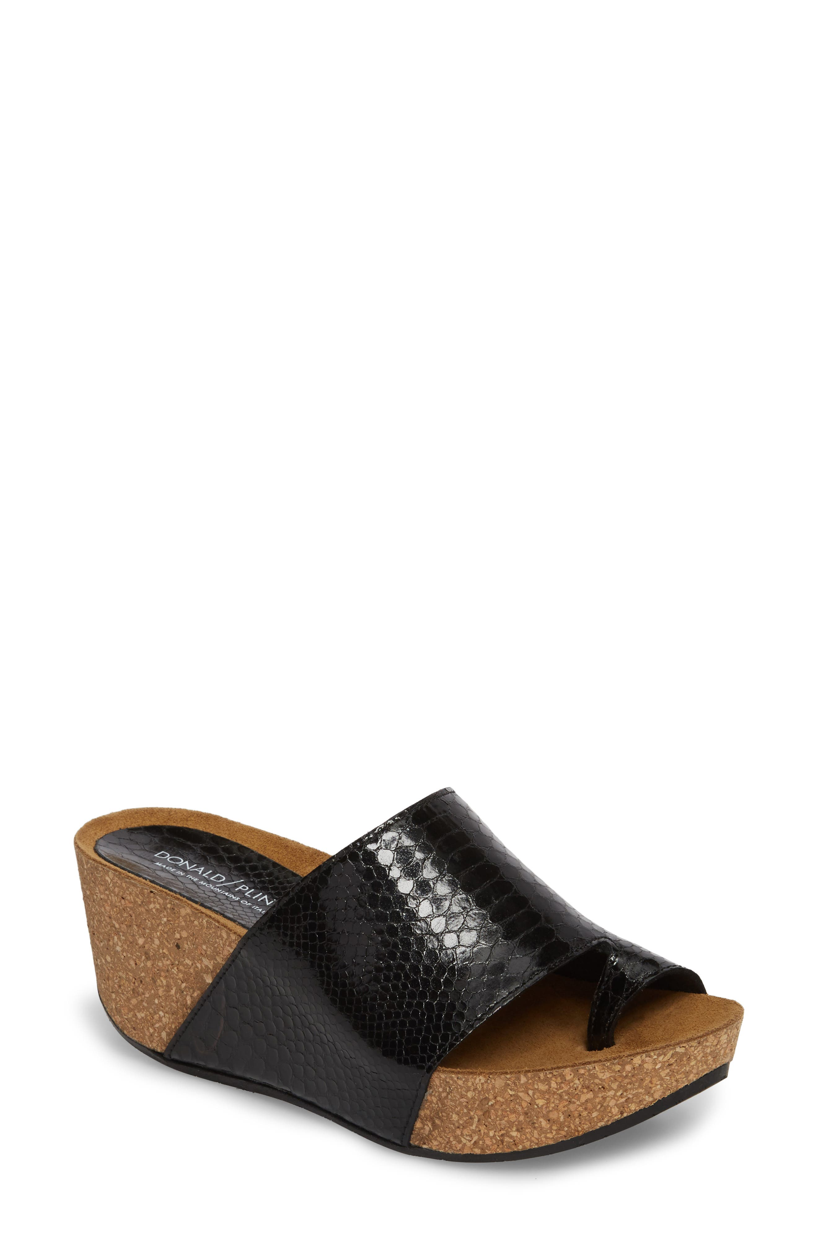 Donald J Pliner Ginie Platform Wedge Sandal,                         Main,                         color,
