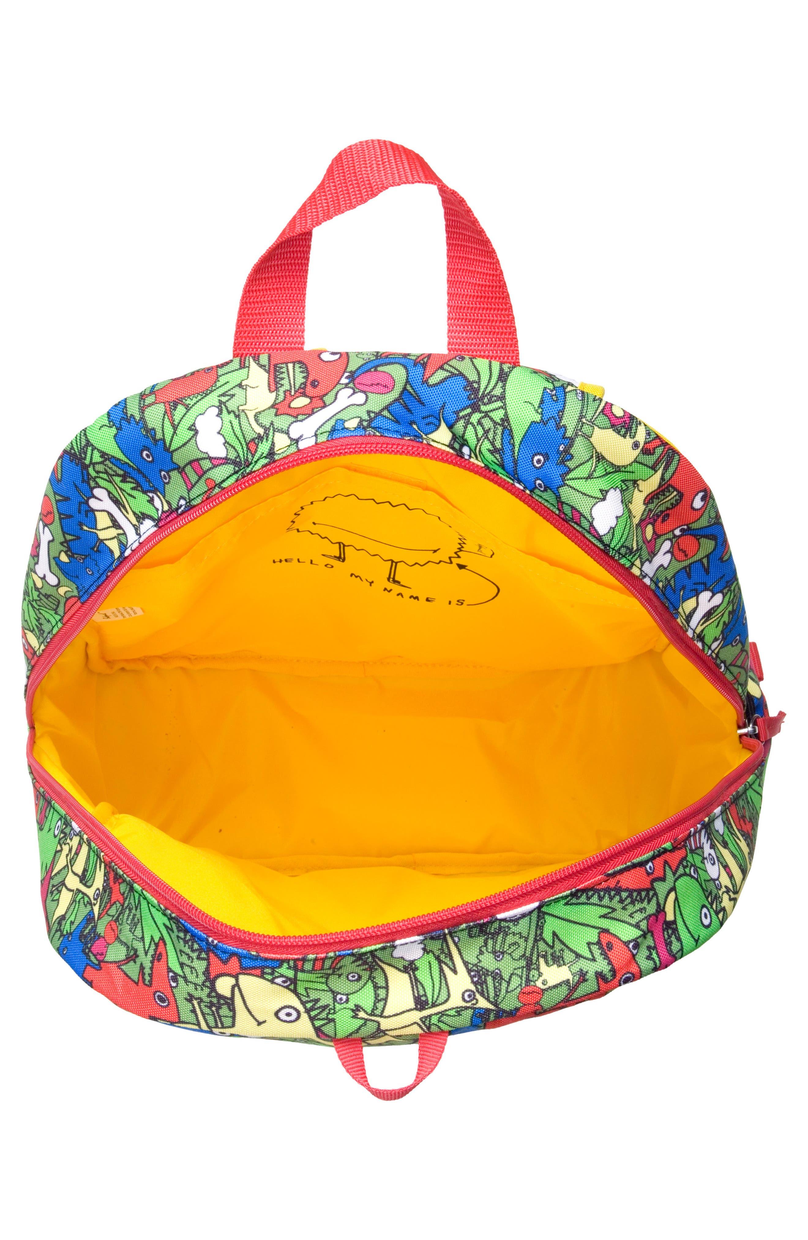 Zip & Zoe Dino Junior Backpack,                             Alternate thumbnail 3, color,                             DINO
