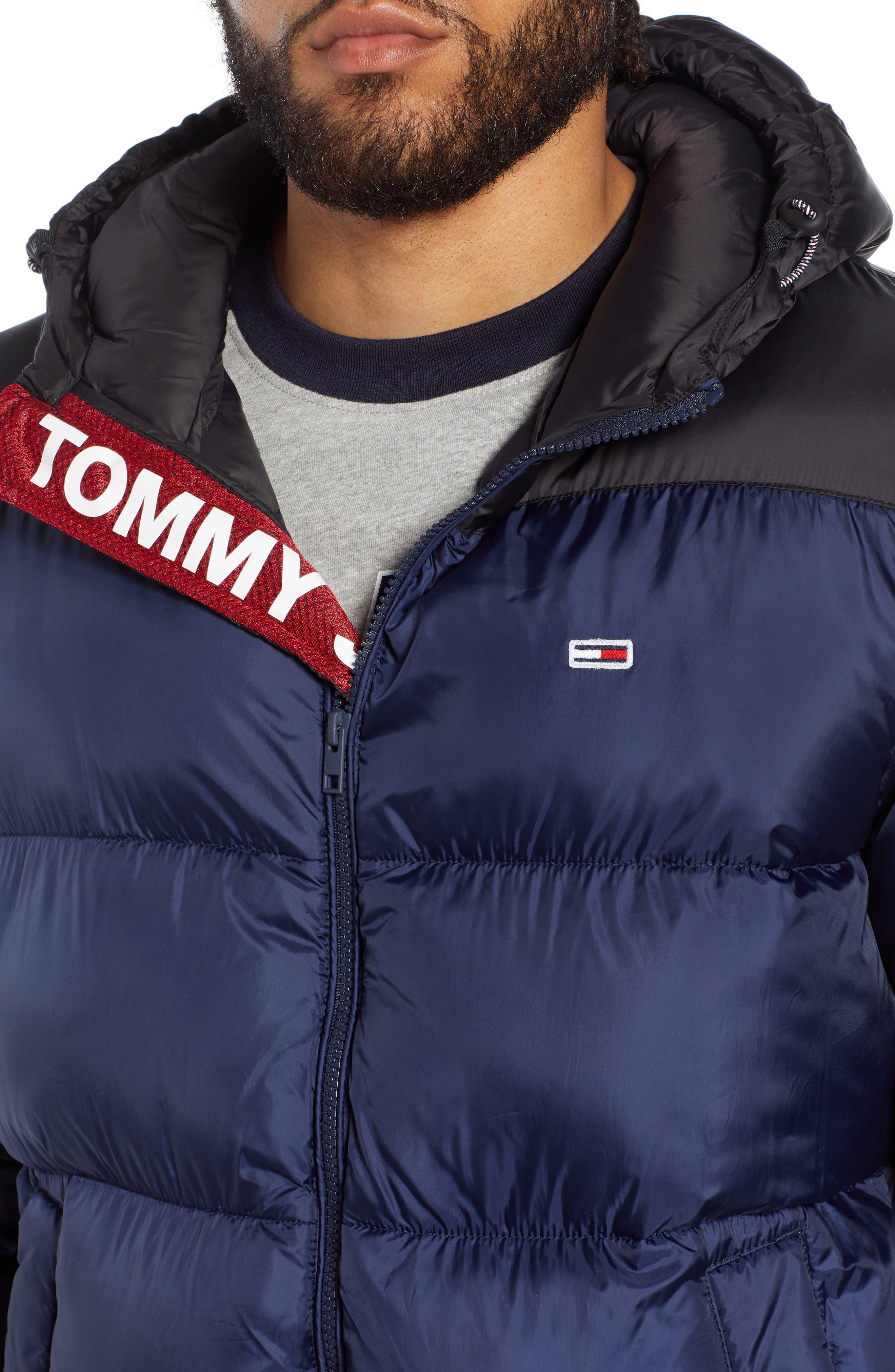 Classics Hooded Jacket,                             Alternate thumbnail 4, color,                             BLACK IRIS / TOMMY BLACK