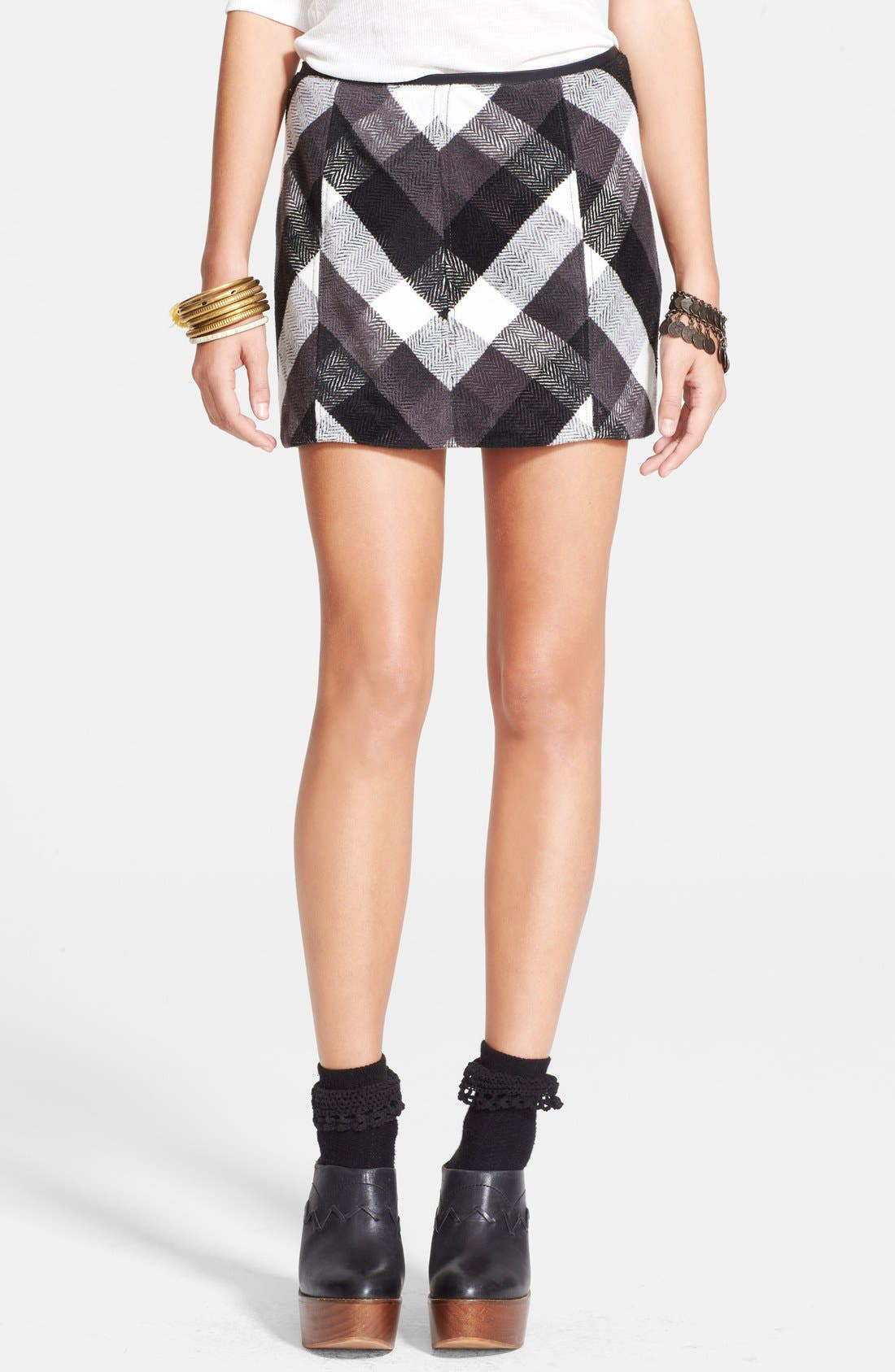 Plaid Skirt,                             Main thumbnail 1, color,                             020