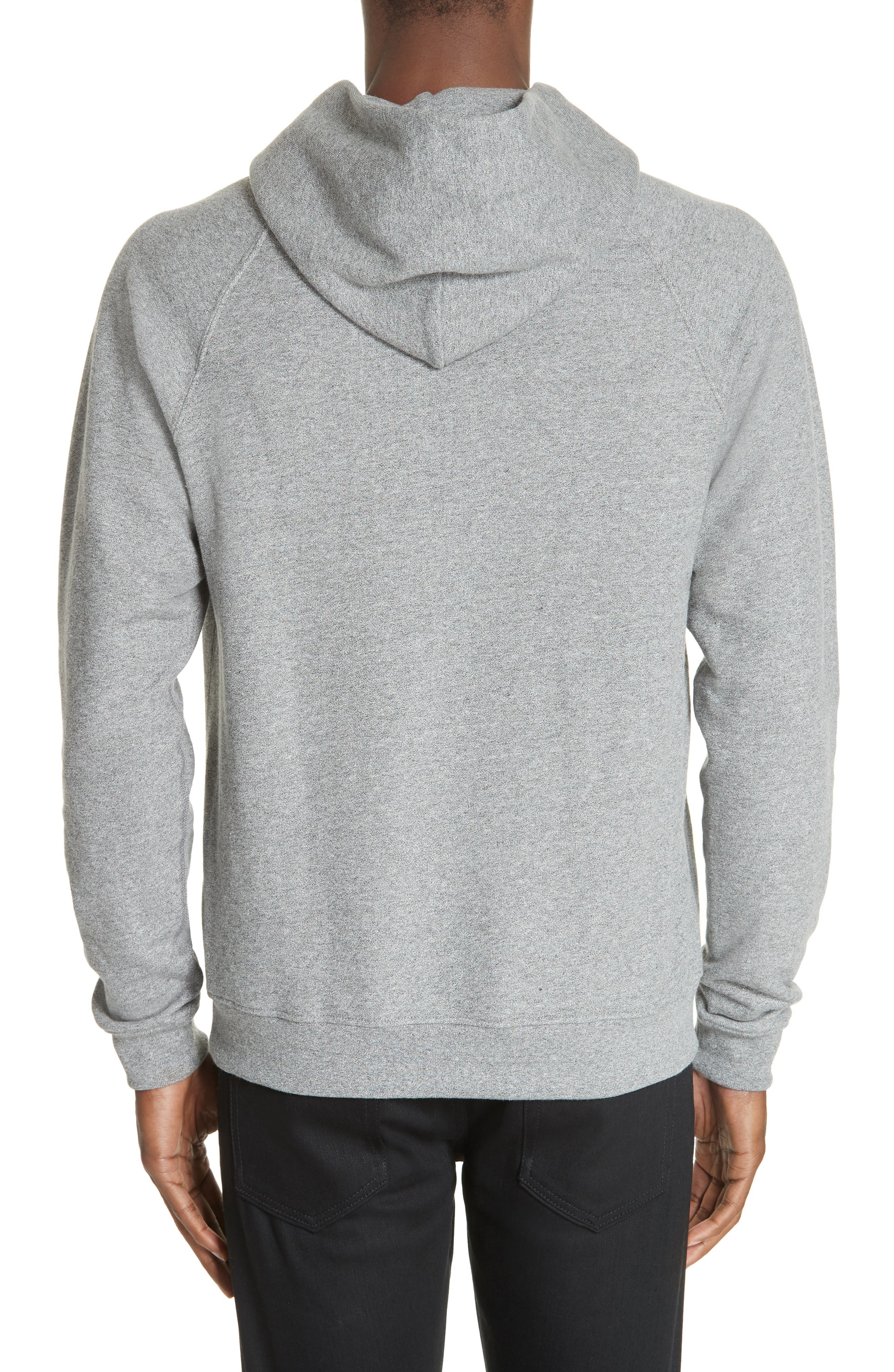 Raglan Hooded Sweatshirt,                             Alternate thumbnail 2, color,                             DARK GREY