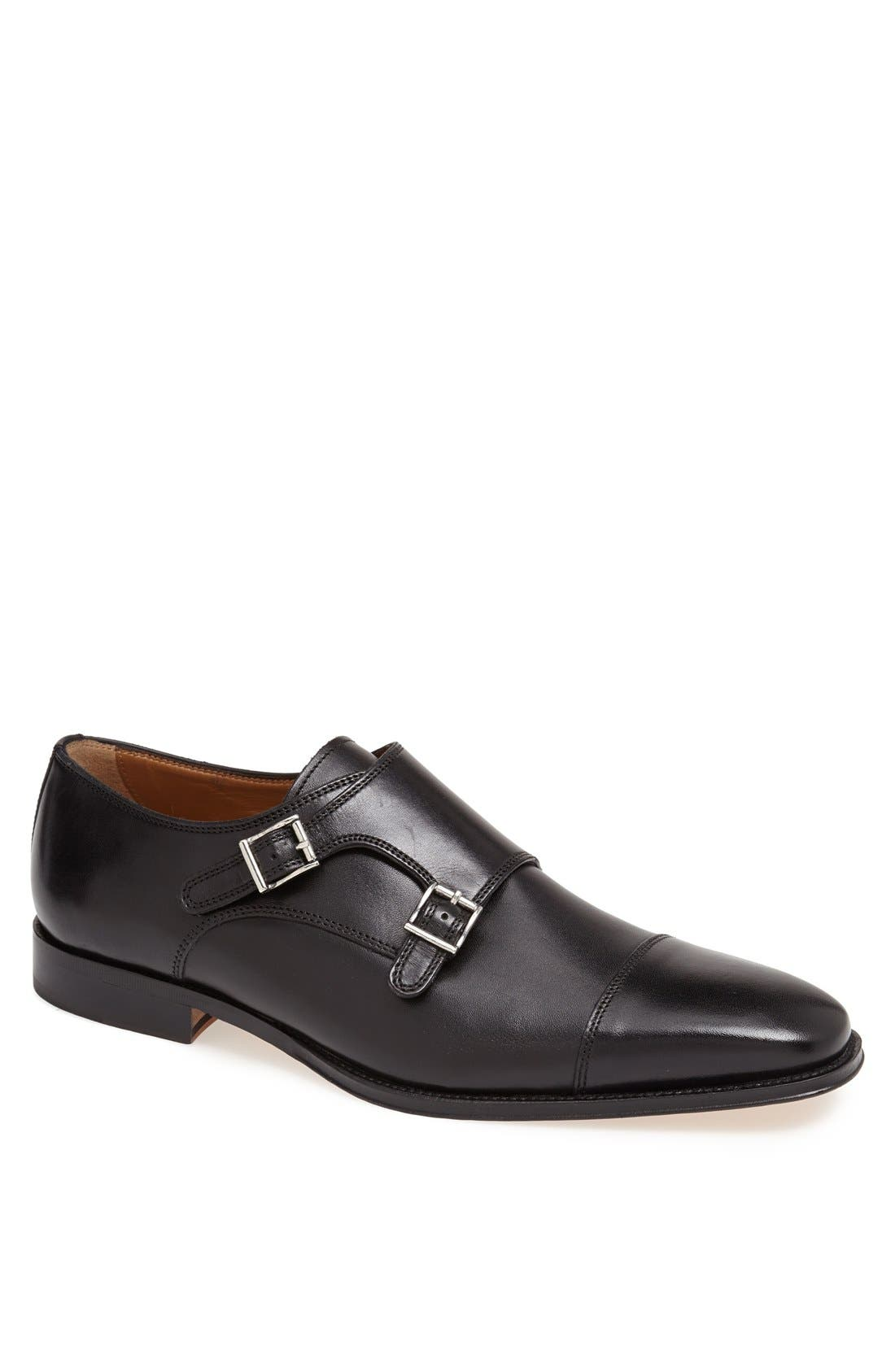 'Classico' Double Monk Strap Slip-On,                         Main,                         color, BLACK