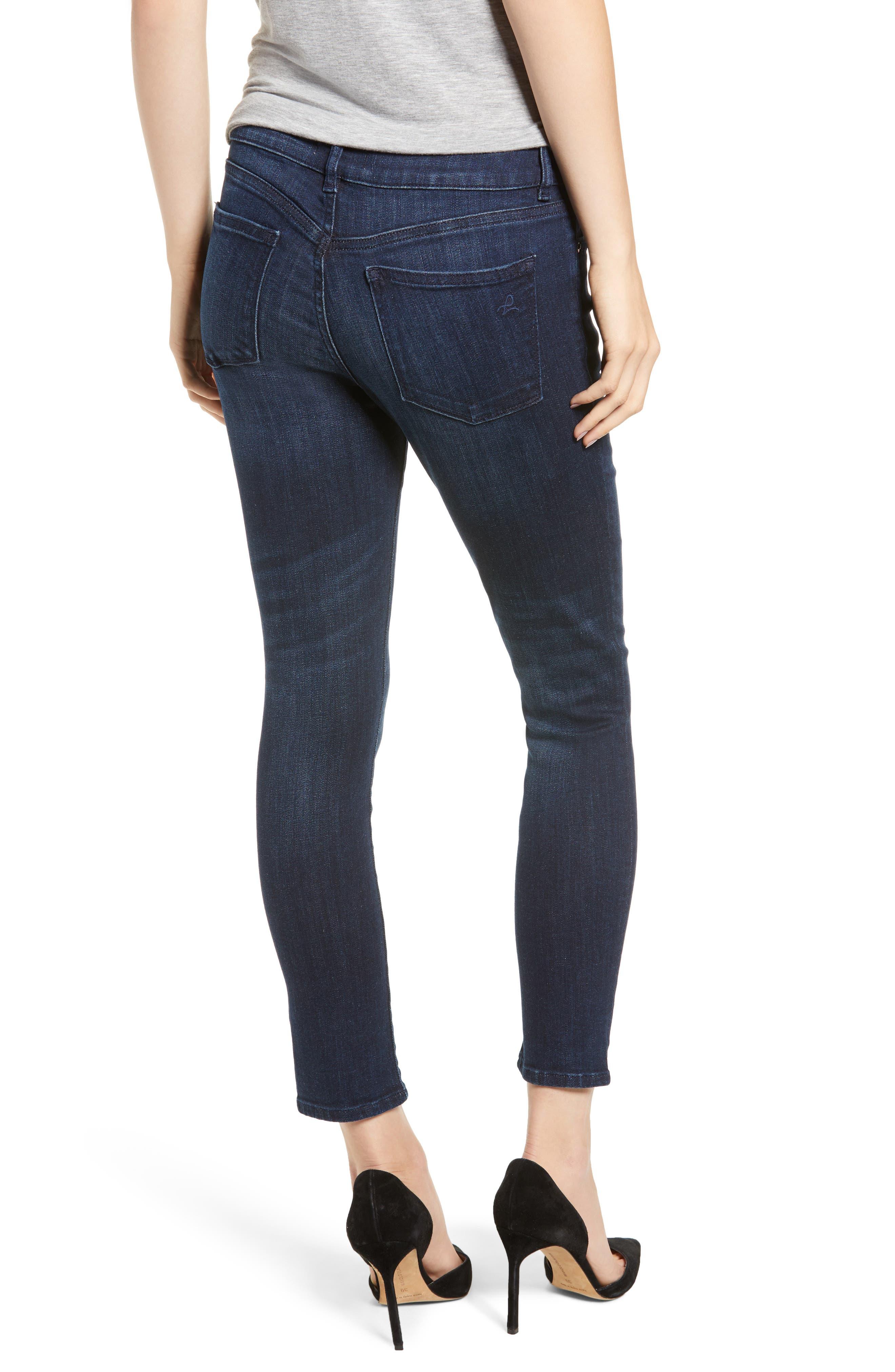 Florence Instasculpt Split Hem Crop Skinny Jeans,                             Alternate thumbnail 2, color,                             ALDRIDGE