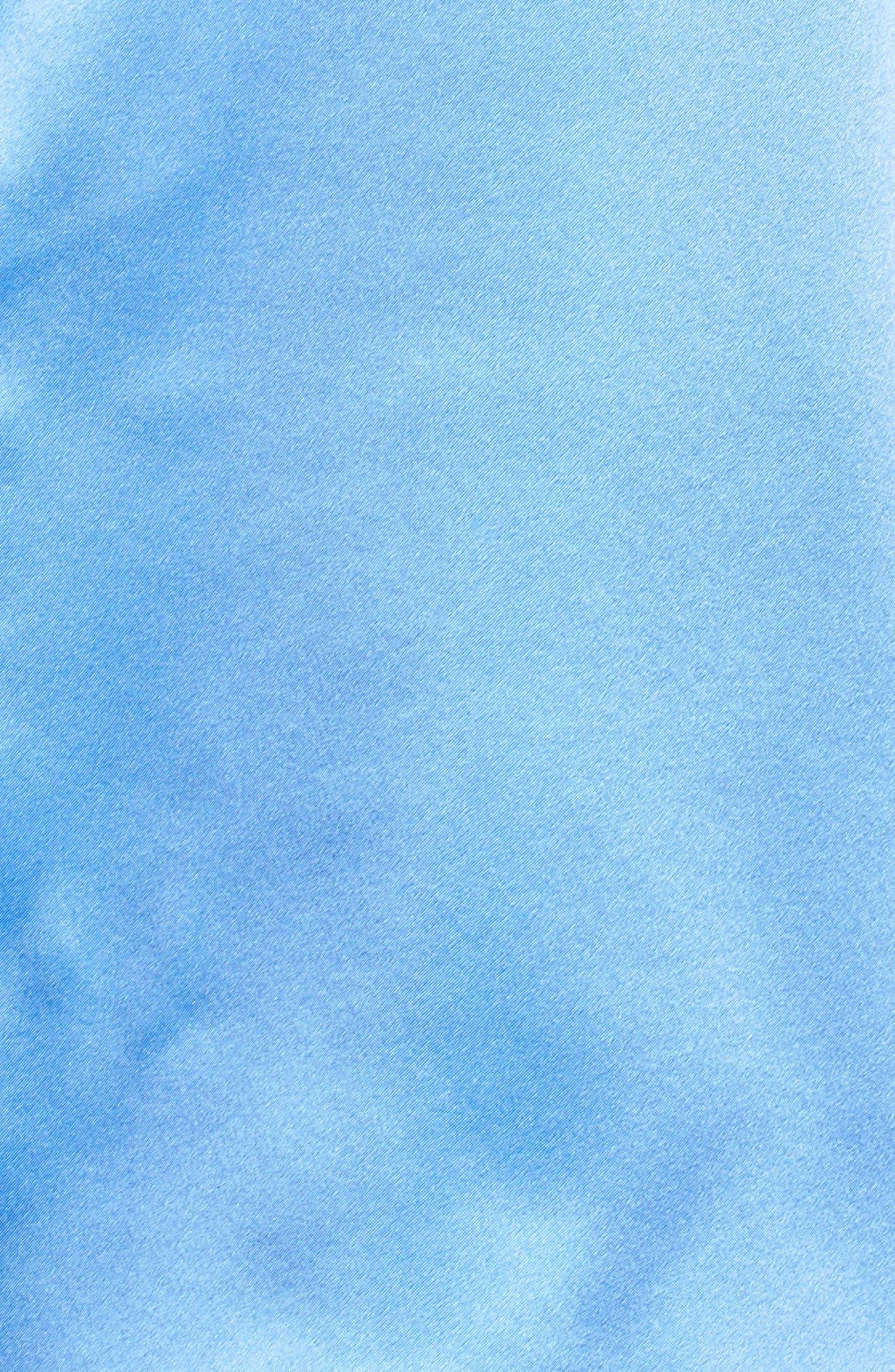 Silk Short Pajamas,                             Alternate thumbnail 5, color,                             MEDITERRANEAN BLUE / KEYLIME