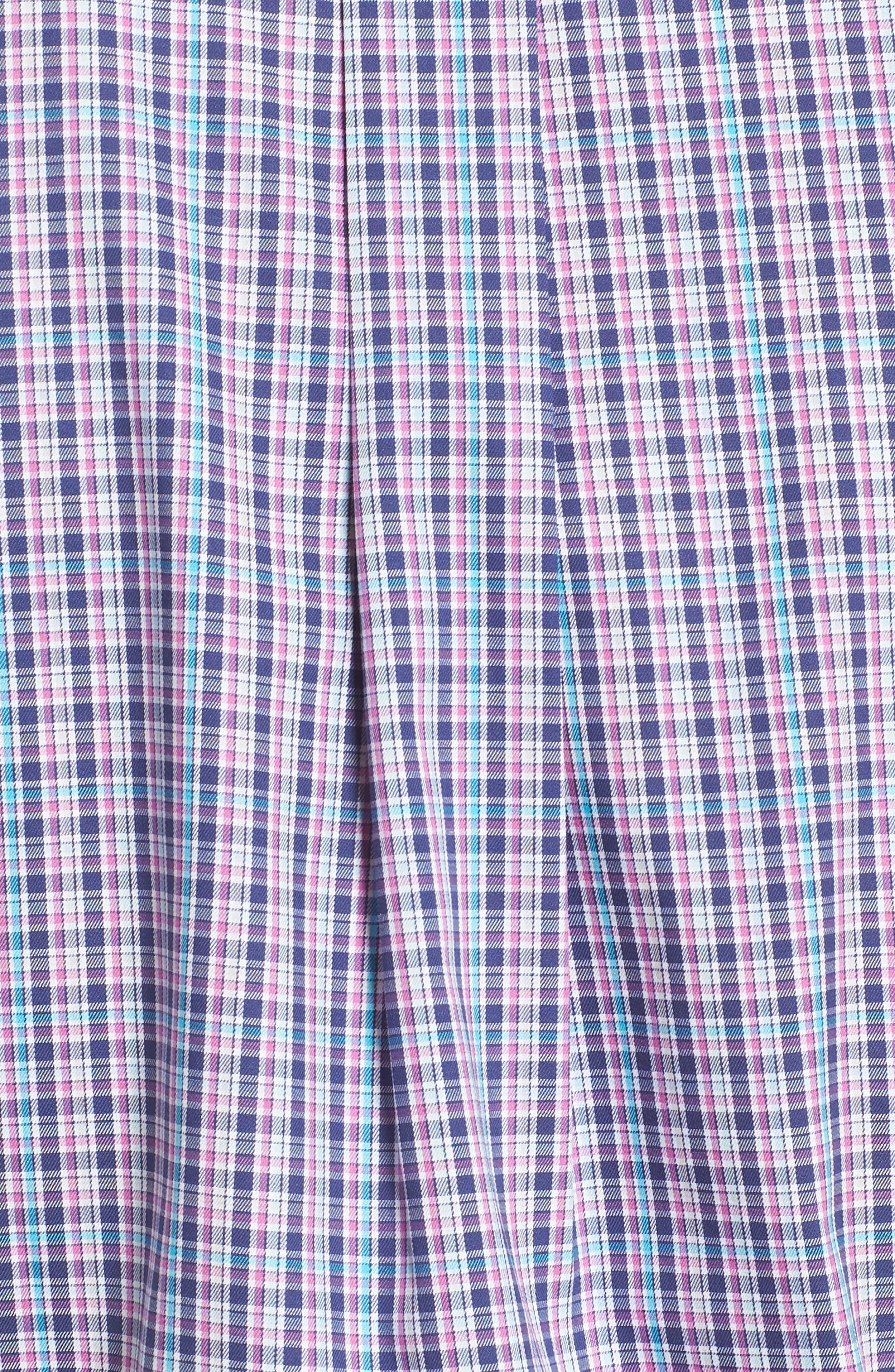 PETER MILLAR,                             Crown Ease Kaci Plaid Sport Shirt,                             Alternate thumbnail 5, color,                             400