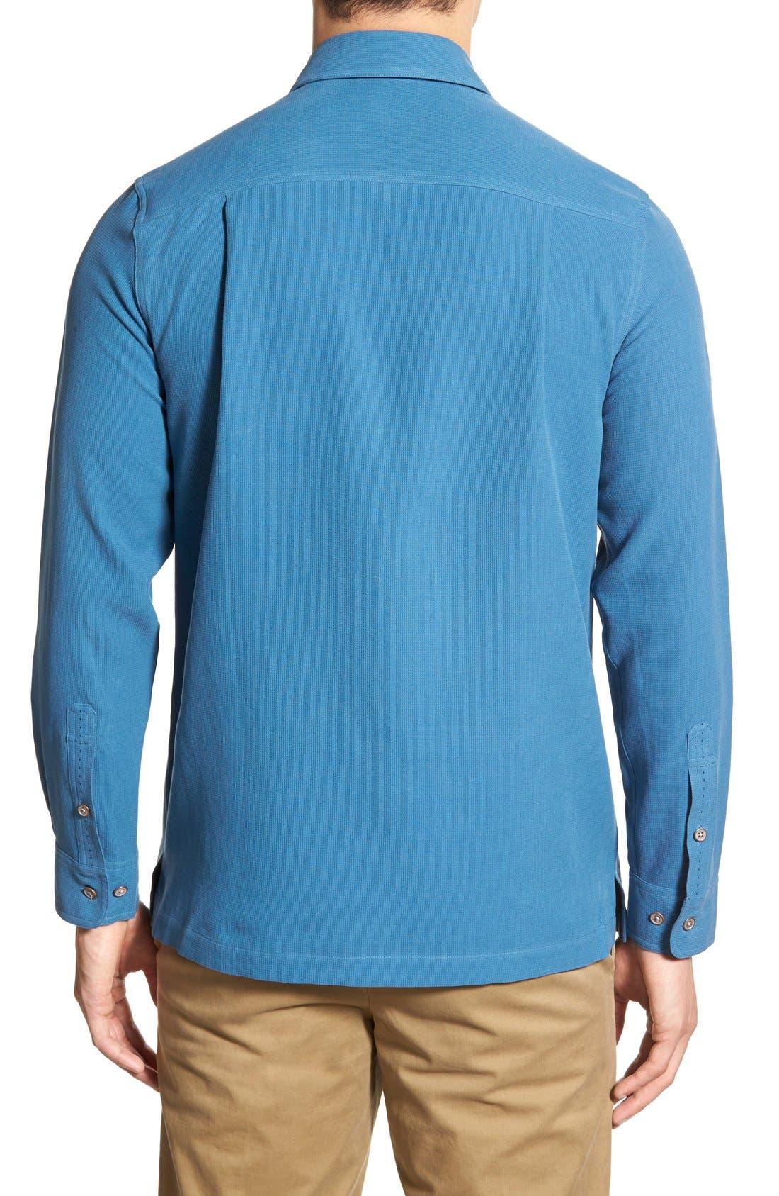 'Weber' Regular Fit Long Sleeve Silk & Cotton Sport Shirt,                             Alternate thumbnail 2, color,                             433