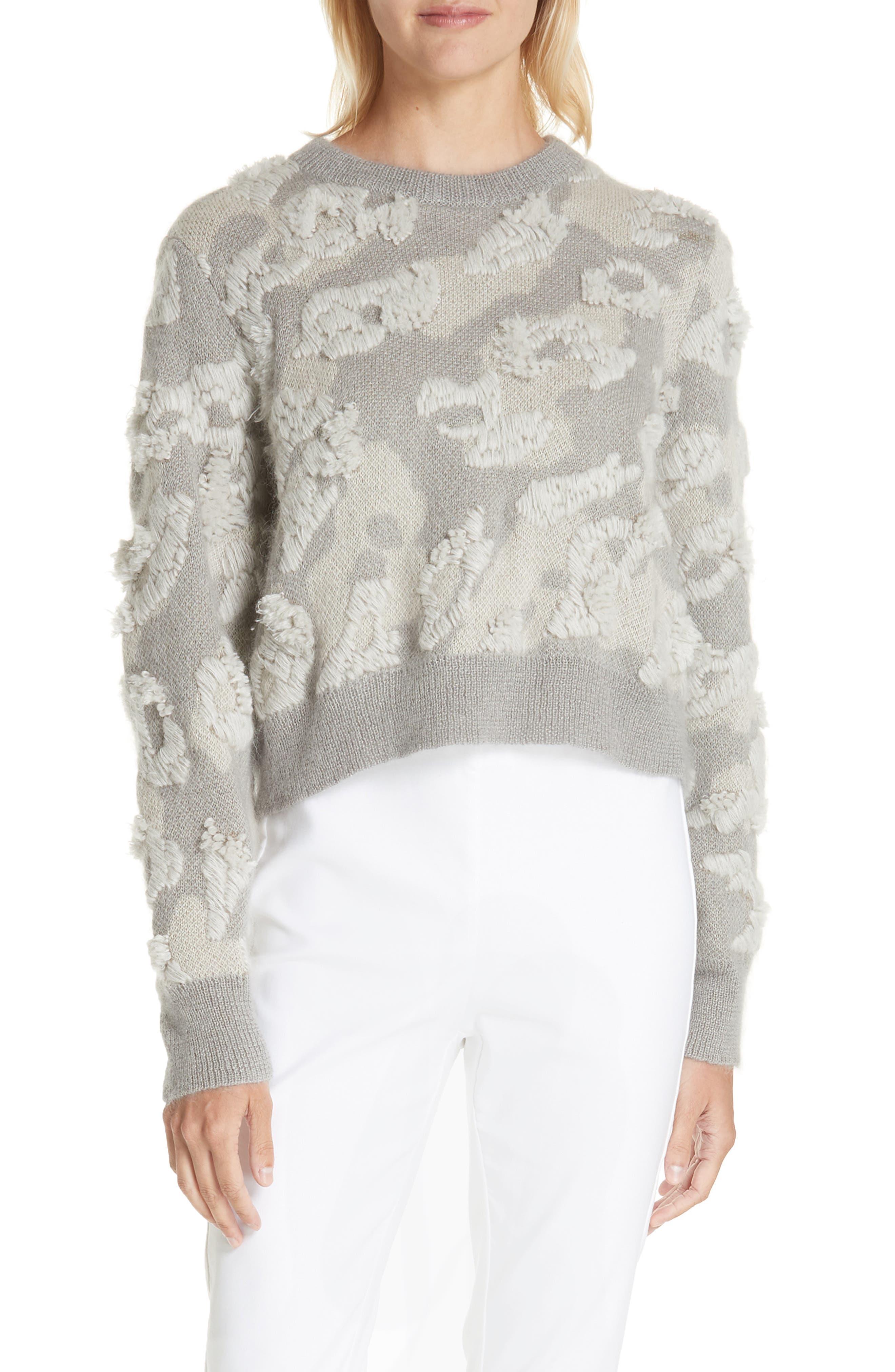RAG & BONE Embroidered Leopard Spot Sweater, Main, color, 900