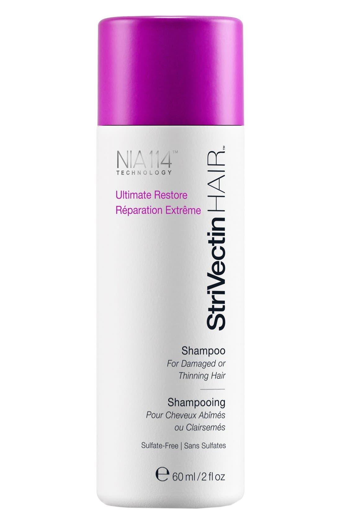 StriVectinHAIR<sup>™</sup> 'Ultimate Restore' Shampoo for Damaged or Thinning Hair,                             Main thumbnail 1, color,                             000