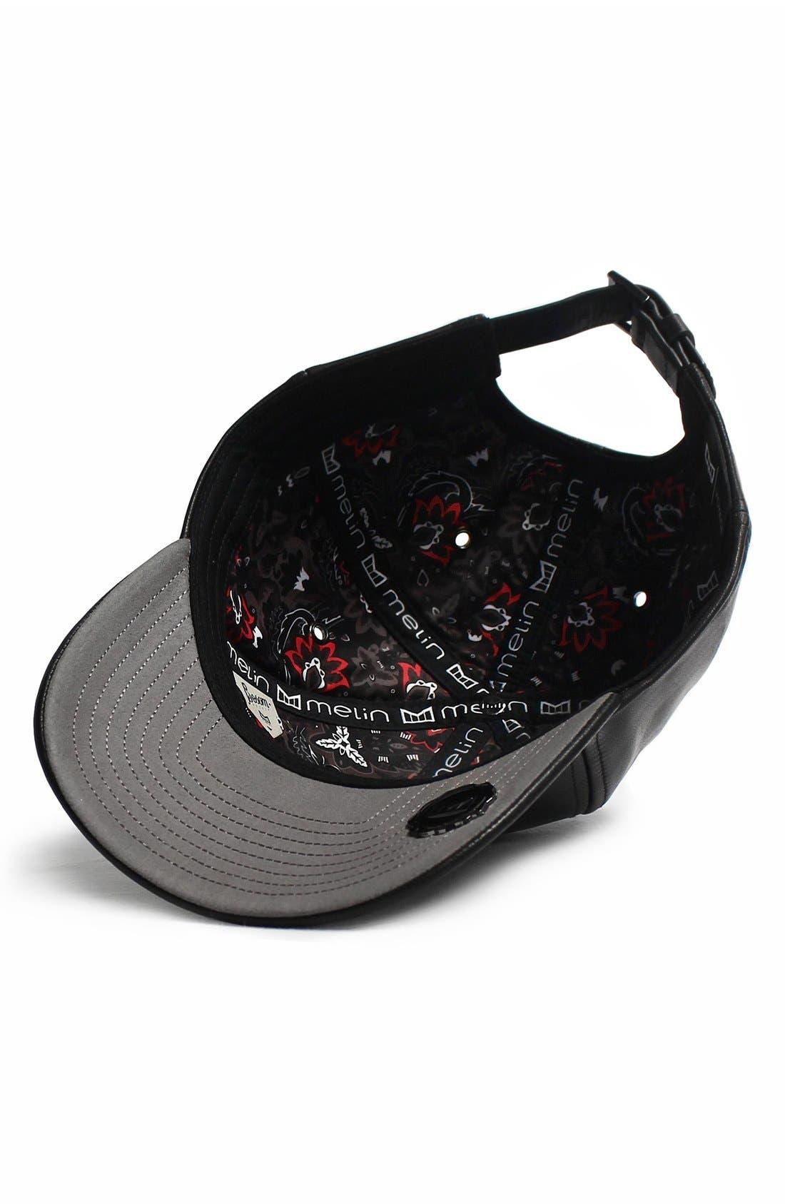 MELIN,                             'The Voyage' Baseball Cap,                             Alternate thumbnail 4, color,                             BLACK/ BLACK