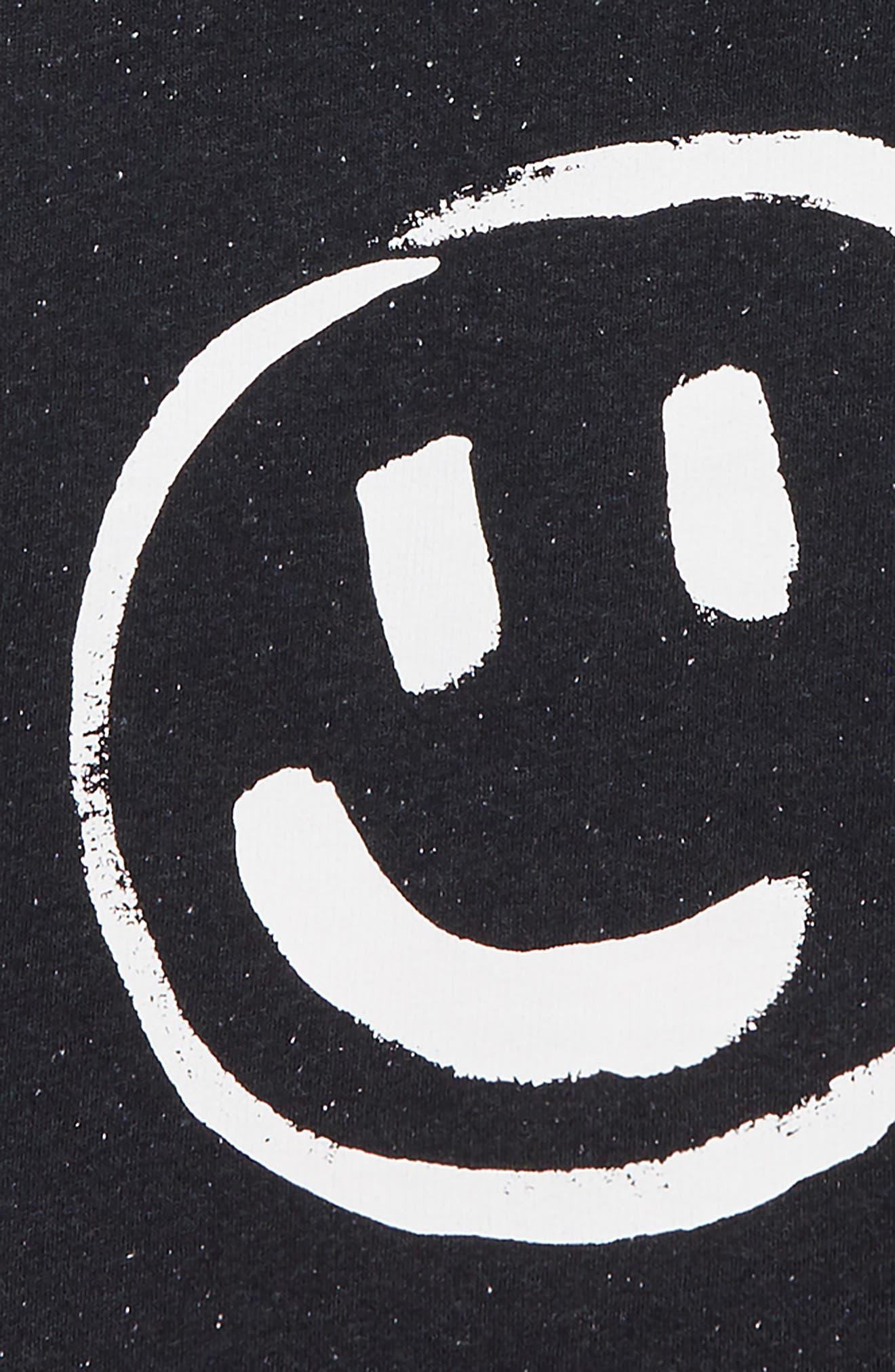 Smile Hoodie Jacket,                             Alternate thumbnail 3, color,                             NAVY DARK PAINTED SMILEY