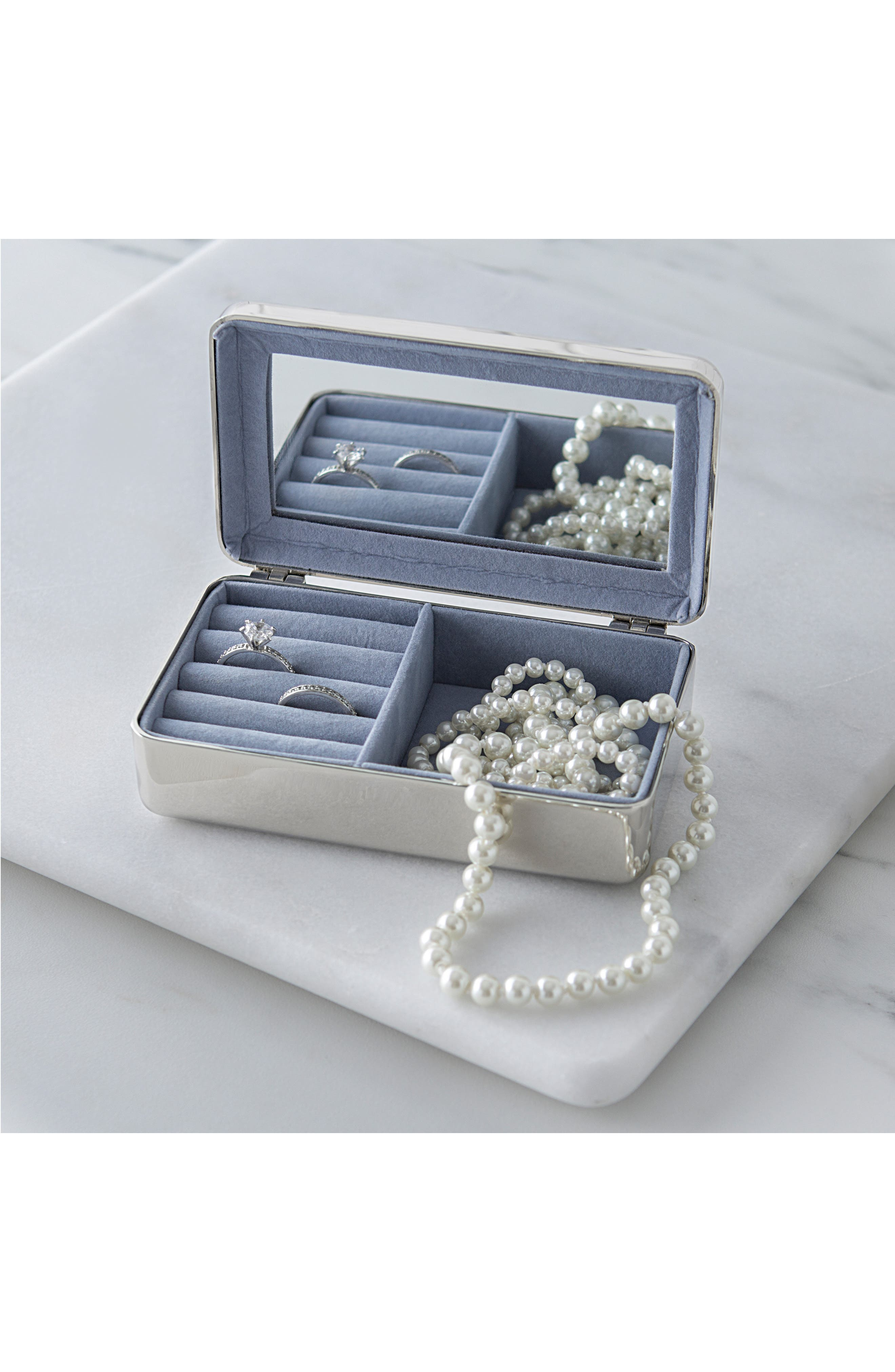 Cathys Concepts Monogram Jewelry Box,                             Alternate thumbnail 5, color,                             040
