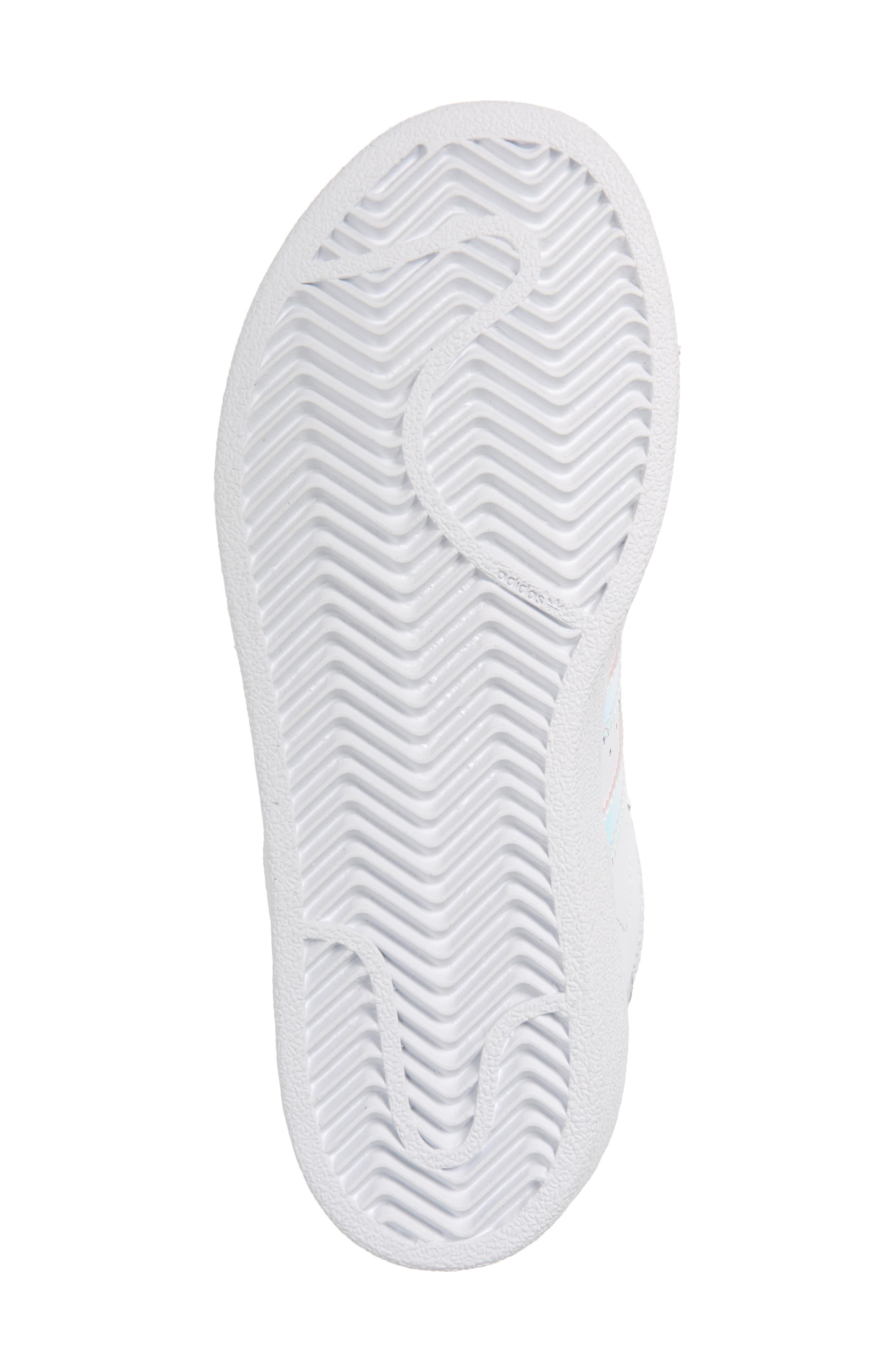 Superstar - Iridescent Sneaker,                             Alternate thumbnail 7, color,                             SILVER METALLIC/ WHITE