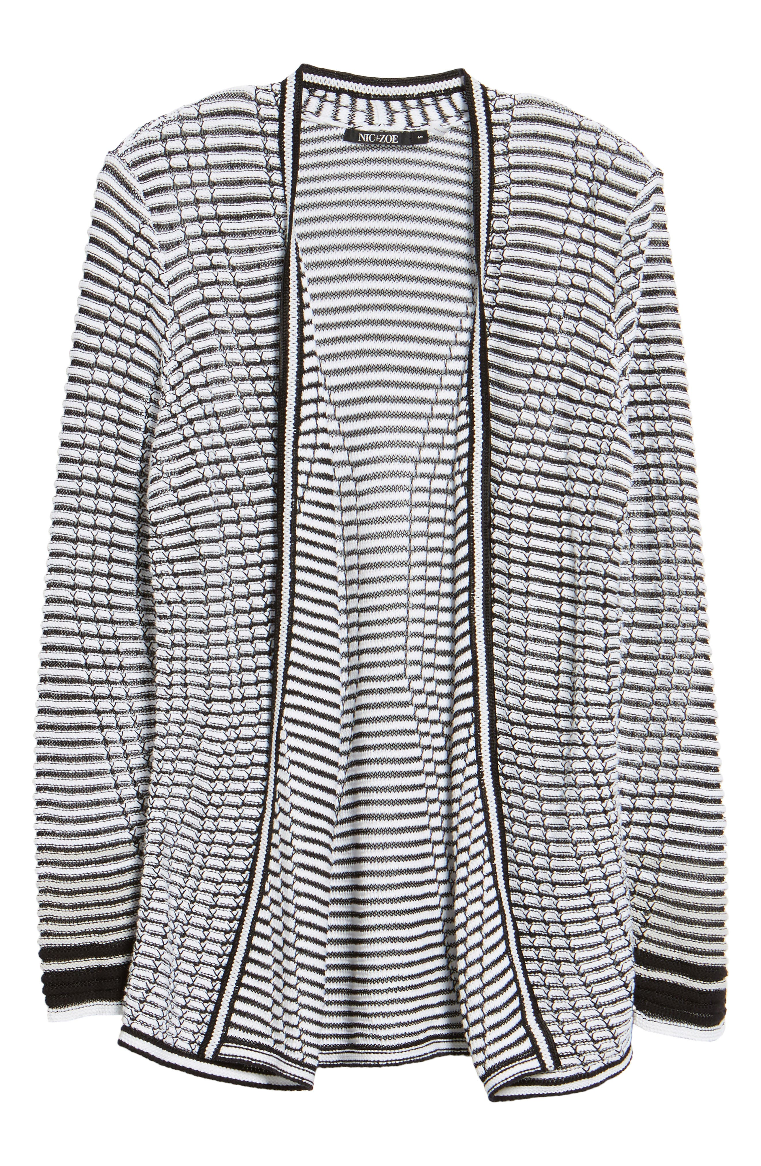 Striped Space Cardigan,                             Alternate thumbnail 6, color,                             055