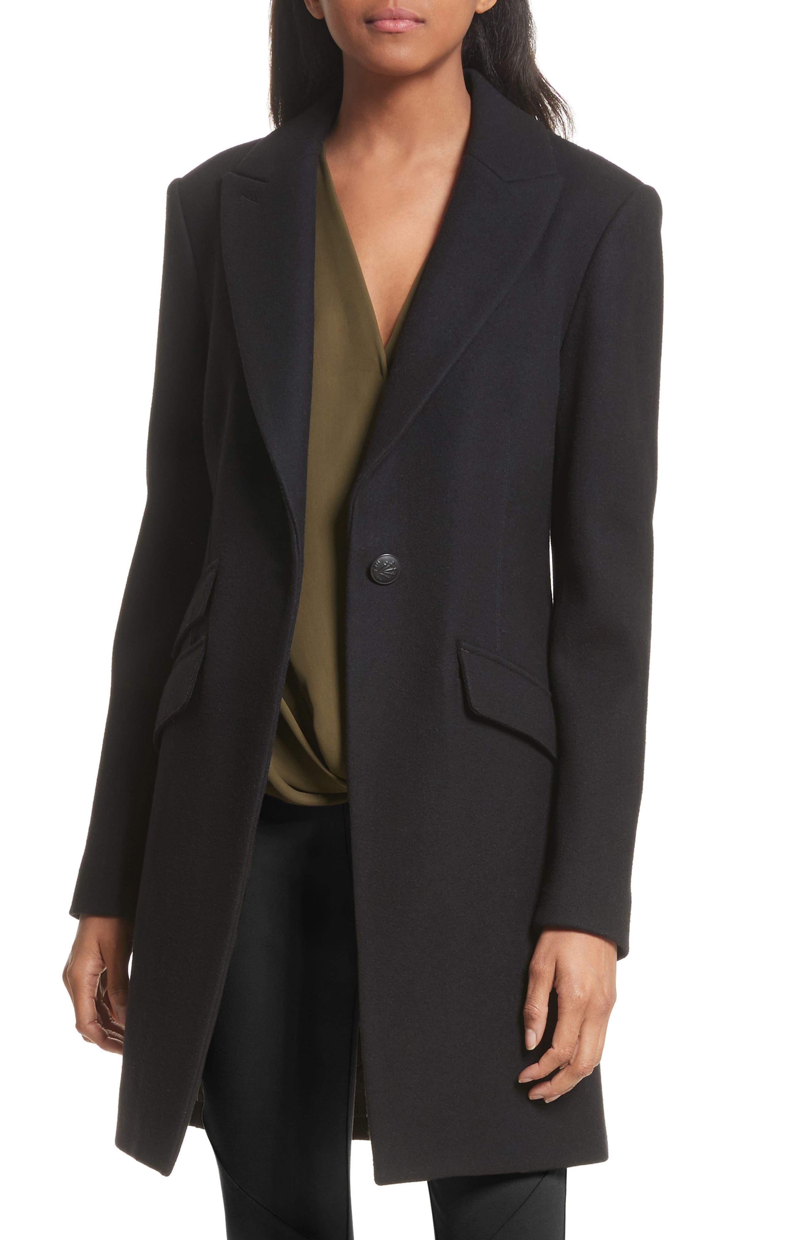 Duchess Wool Blend Coat,                             Main thumbnail 1, color,                             001