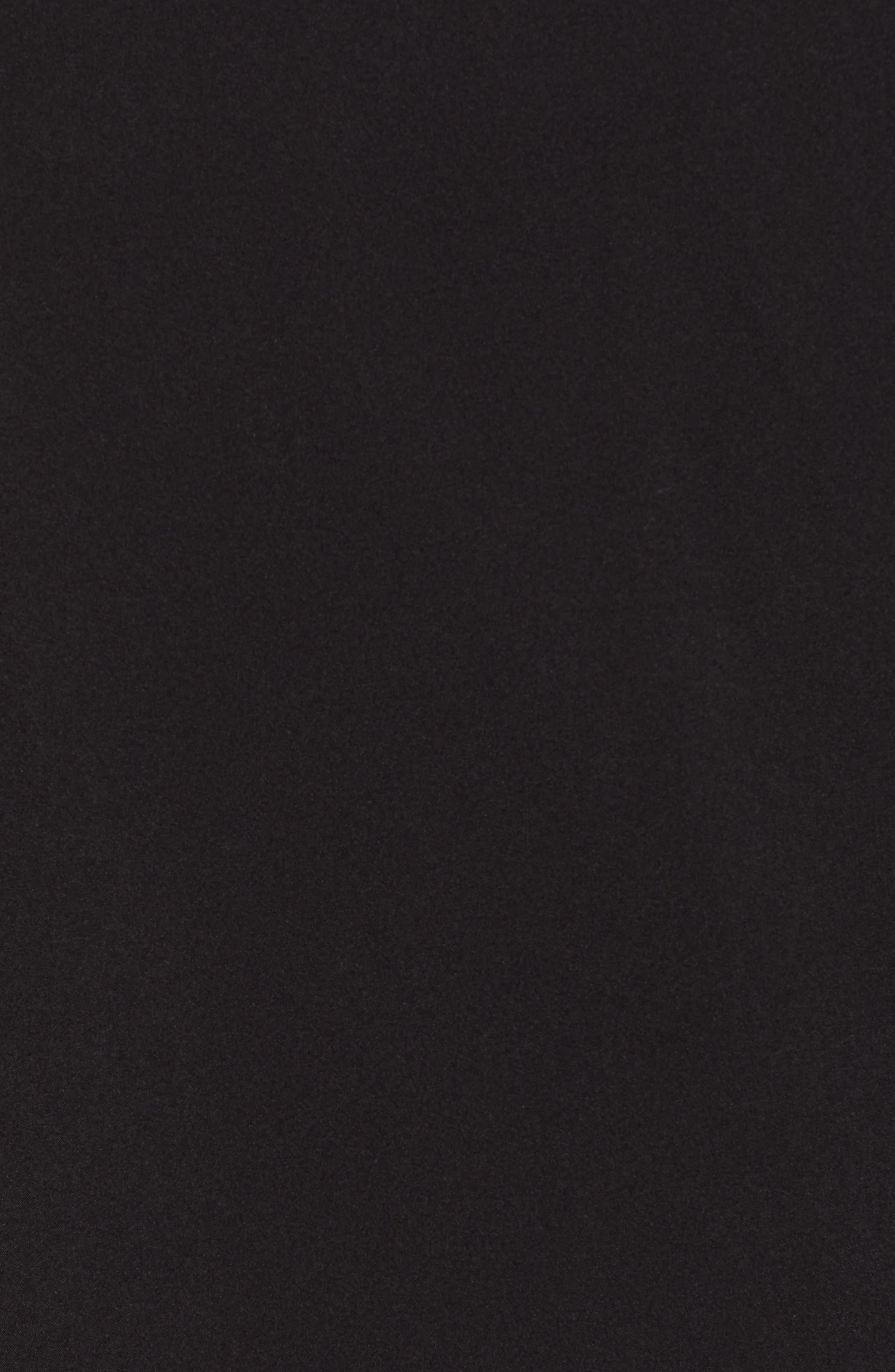 Mock Neck Jacket,                             Alternate thumbnail 7, color,                             BLACK